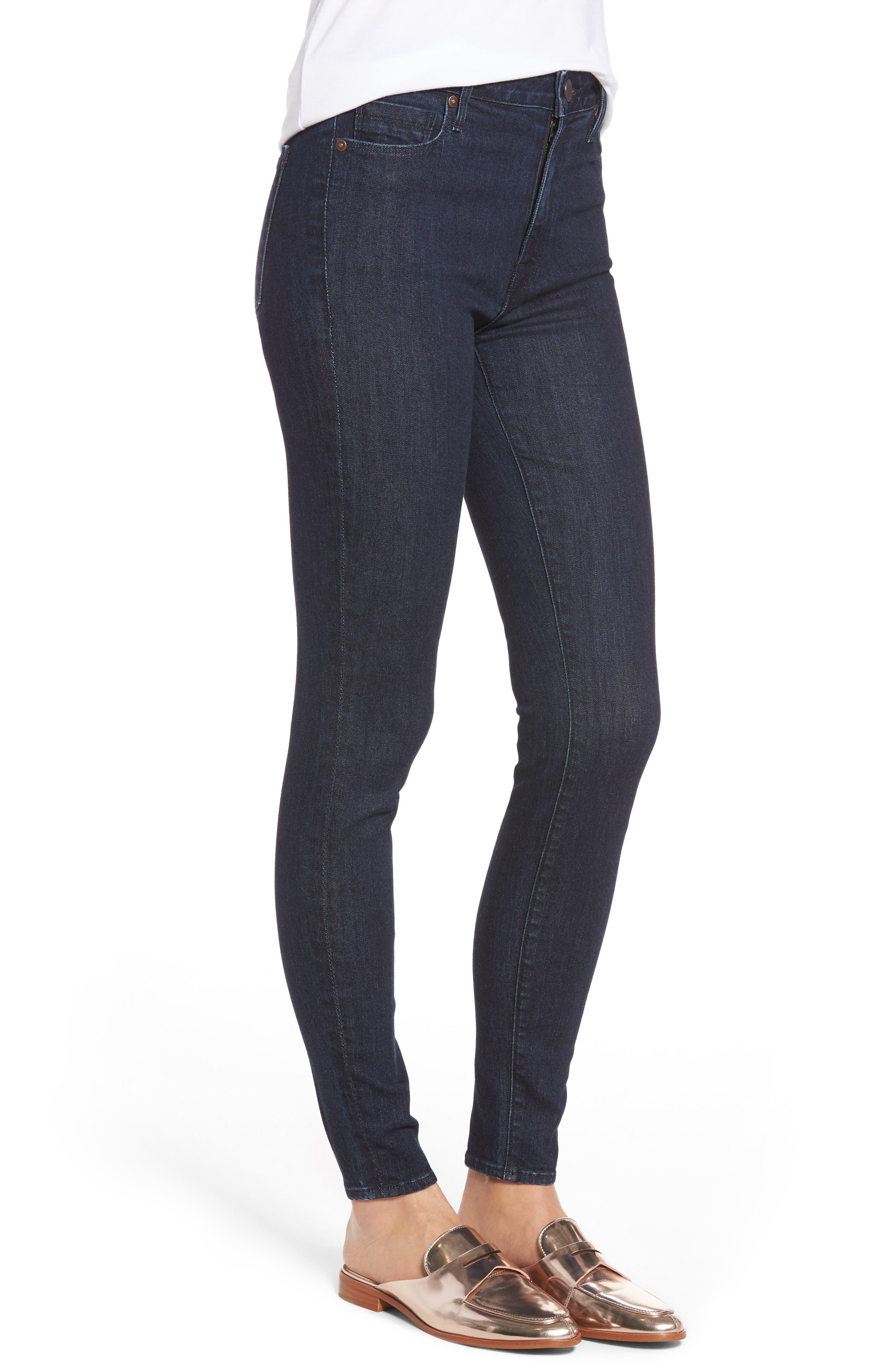Bombshell High Waist Stretch Skinny Jeans,                             Alternate thumbnail 8, color,