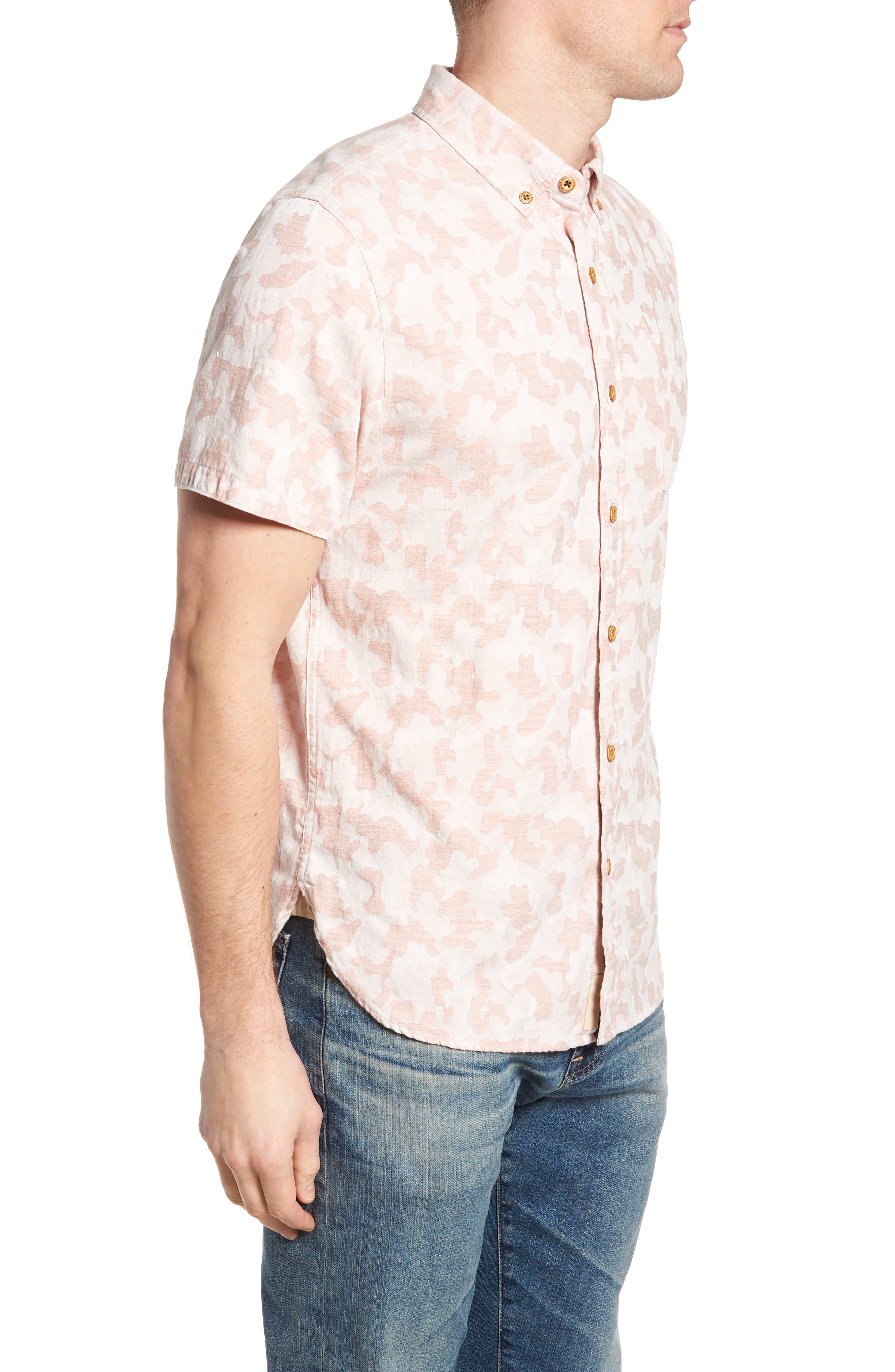 Truman Slim Fit Short Sleeve Sport Shirt,                             Alternate thumbnail 3, color,                             650