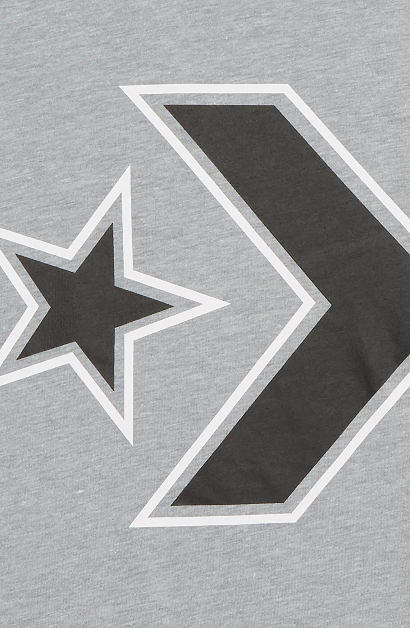 Star Chevron Graphic T-Shirt,                             Alternate thumbnail 2, color,                             DARK GREY HEATHER
