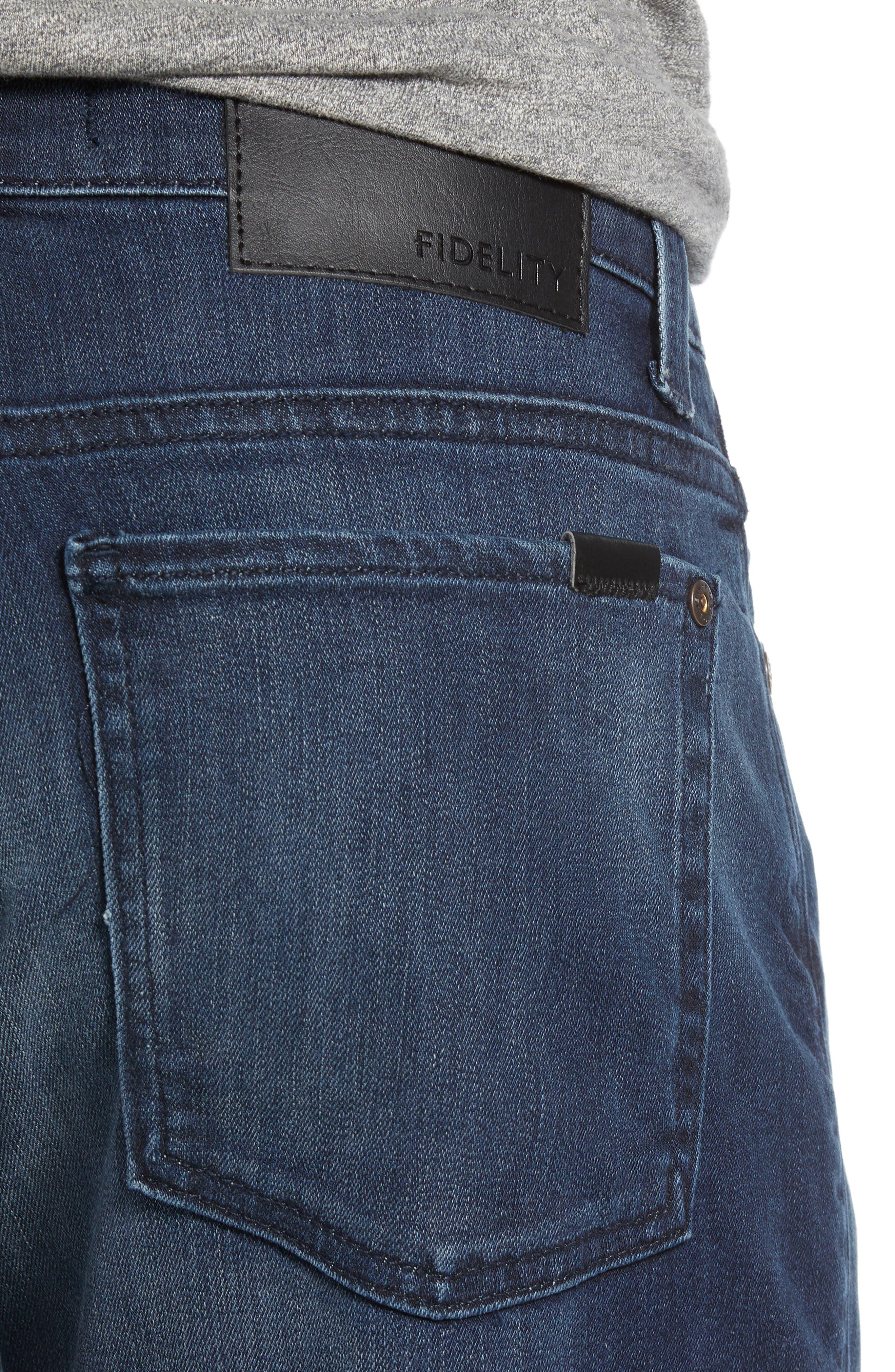 FIDELITY DENIM,                             Torino Slim Fit Jeans,                             Alternate thumbnail 4, color,                             SPECTRE