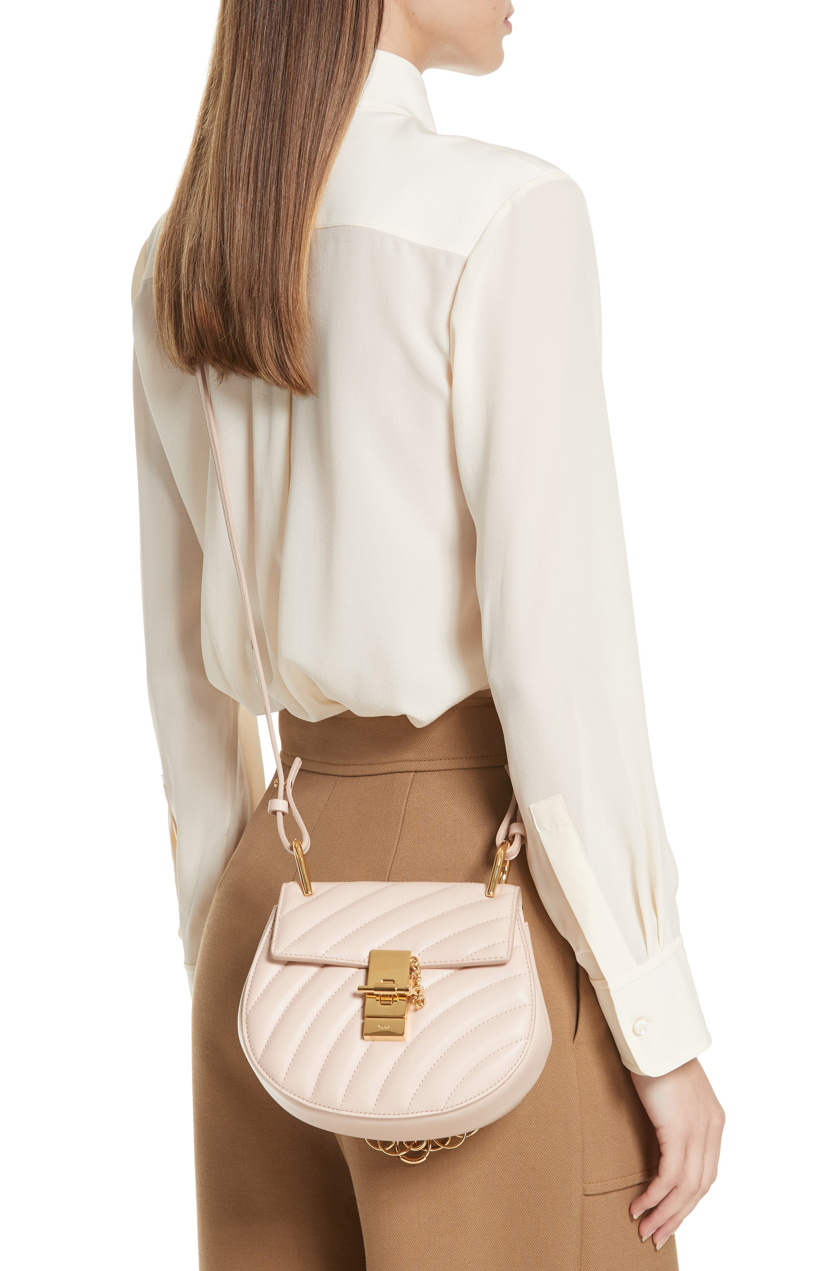 CHLOÉ,                             Mini Drew Bijoux Leather Shoulder Bag,                             Alternate thumbnail 3, color,                             680