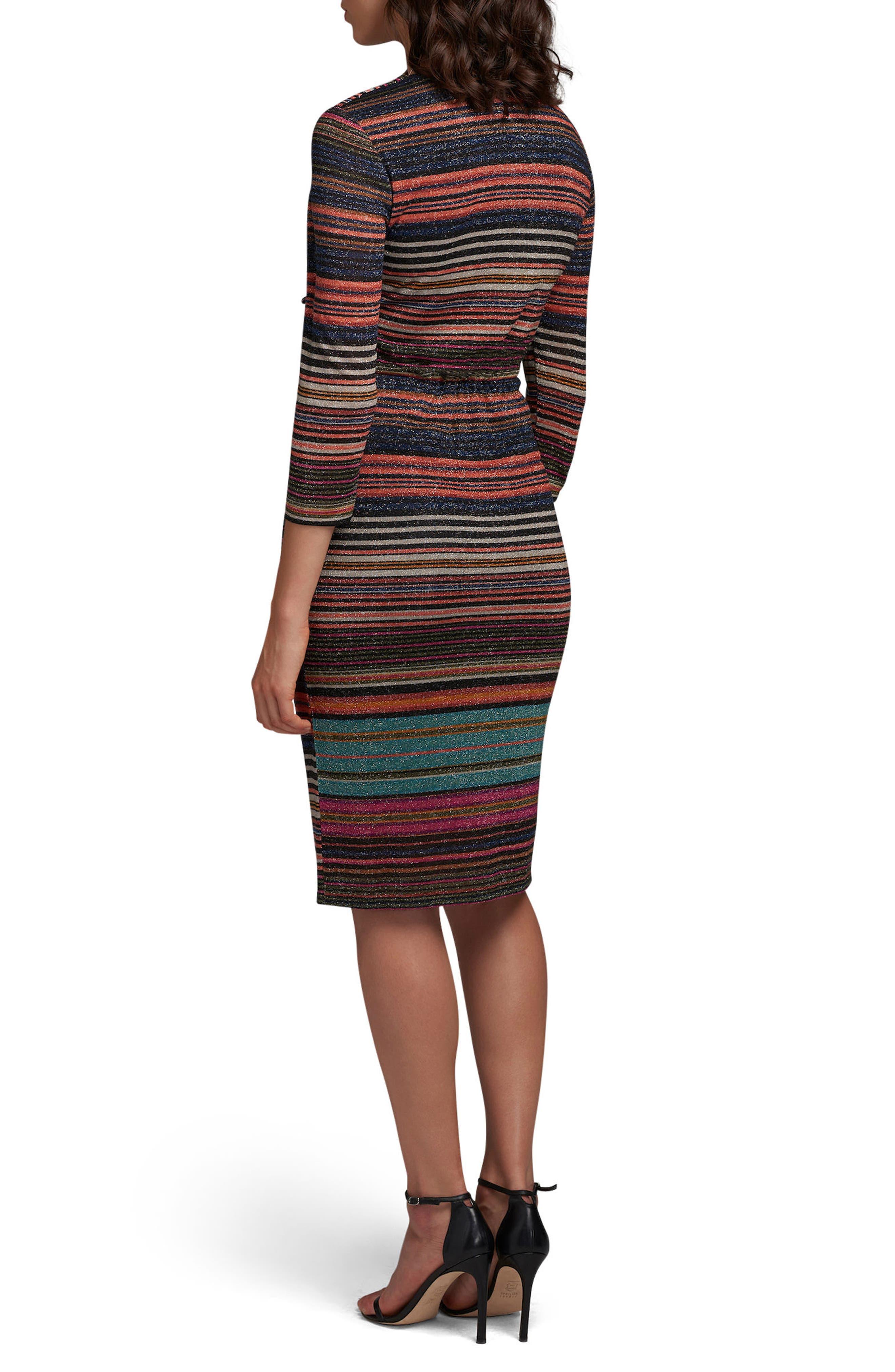 Stripe Sheath Dress,                             Alternate thumbnail 2, color,                             400