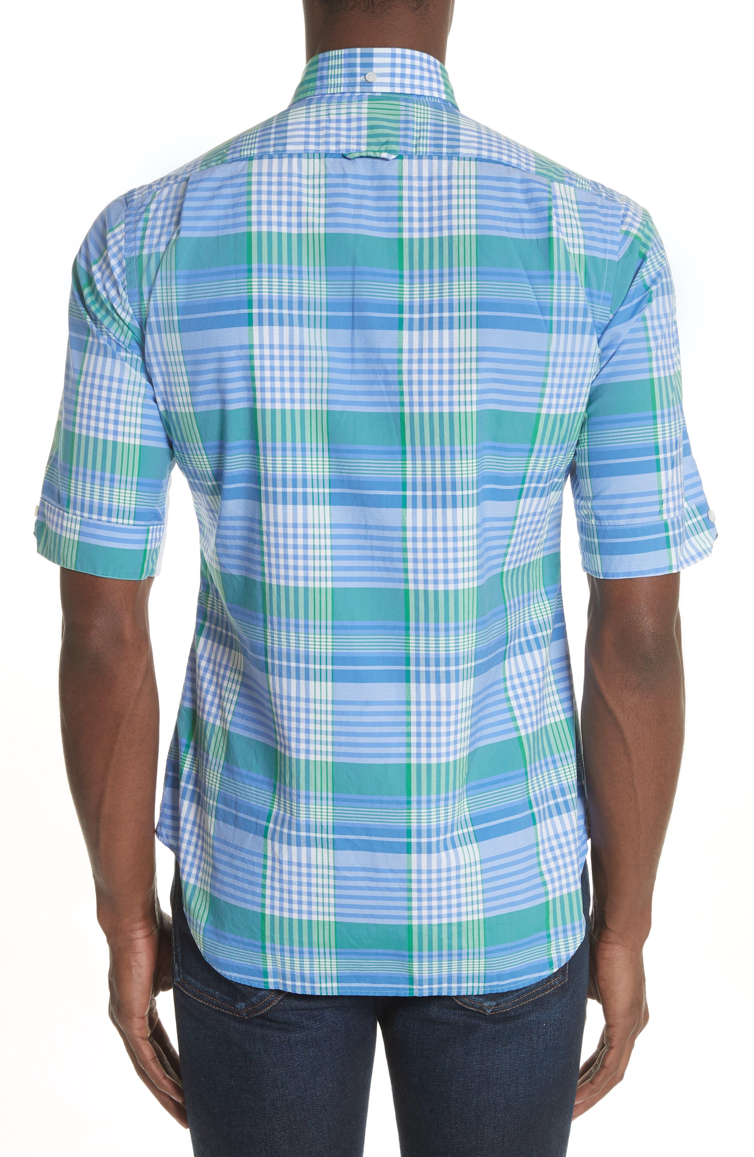 Solid & Plaid Woven Shirt,                             Alternate thumbnail 2, color,                             470