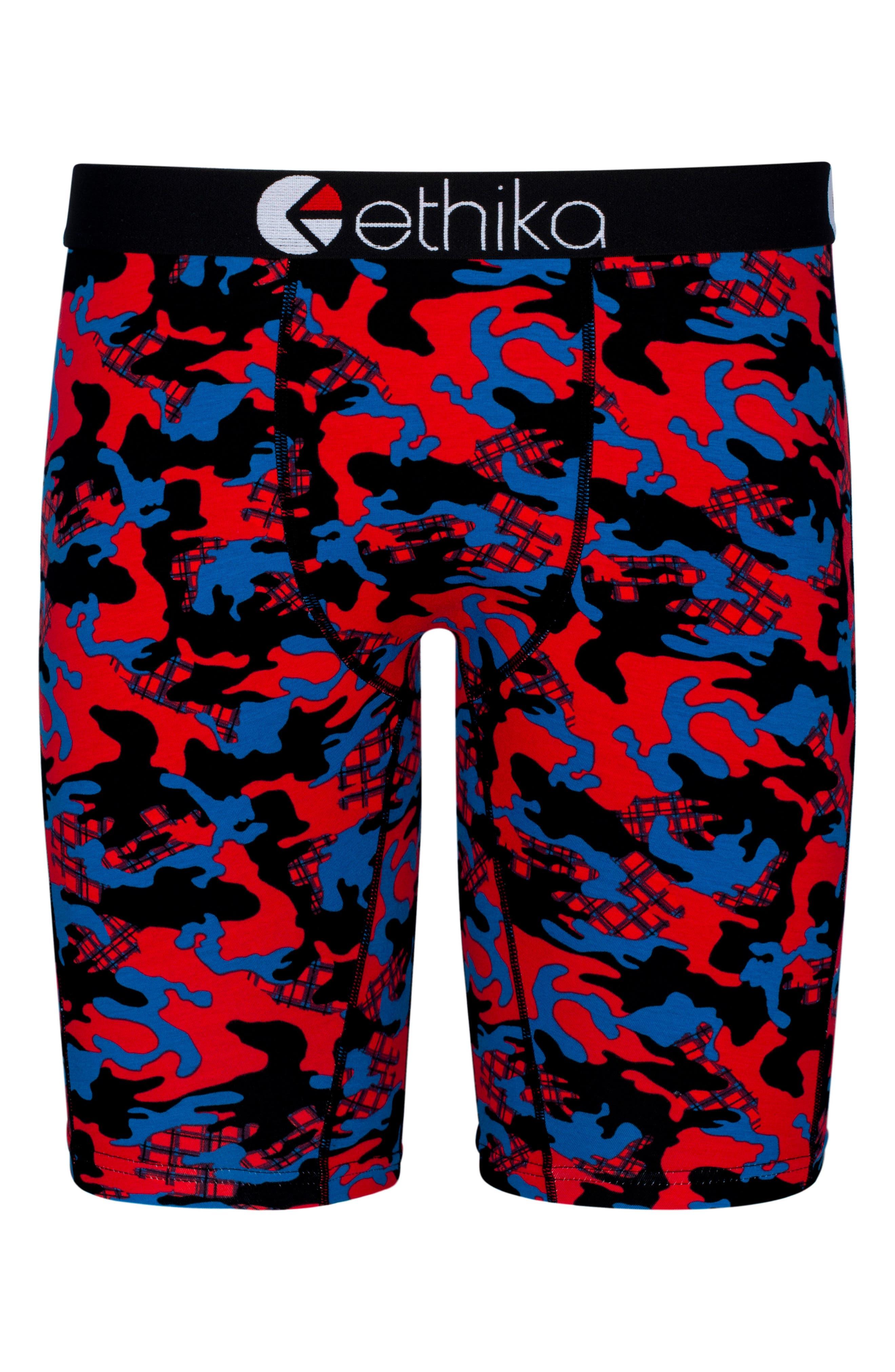 Jacks Camo Boxer Briefs,                         Main,                         color, RED