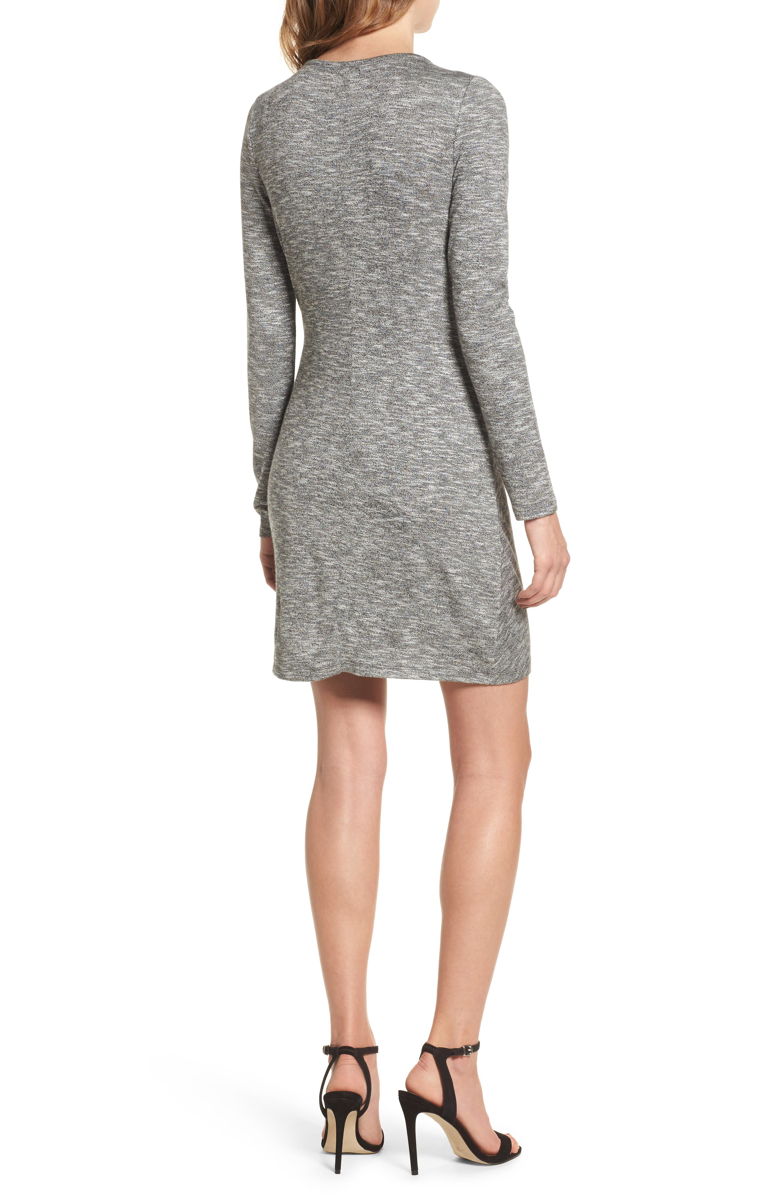 Ruched Knit Dress,                             Alternate thumbnail 2, color,                             020