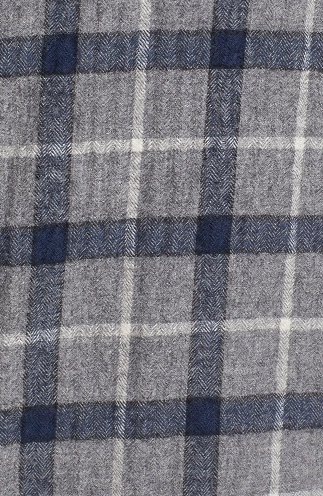 Murphy Slim Fit Plaid Sport Shirt,                             Alternate thumbnail 5, color,                             088