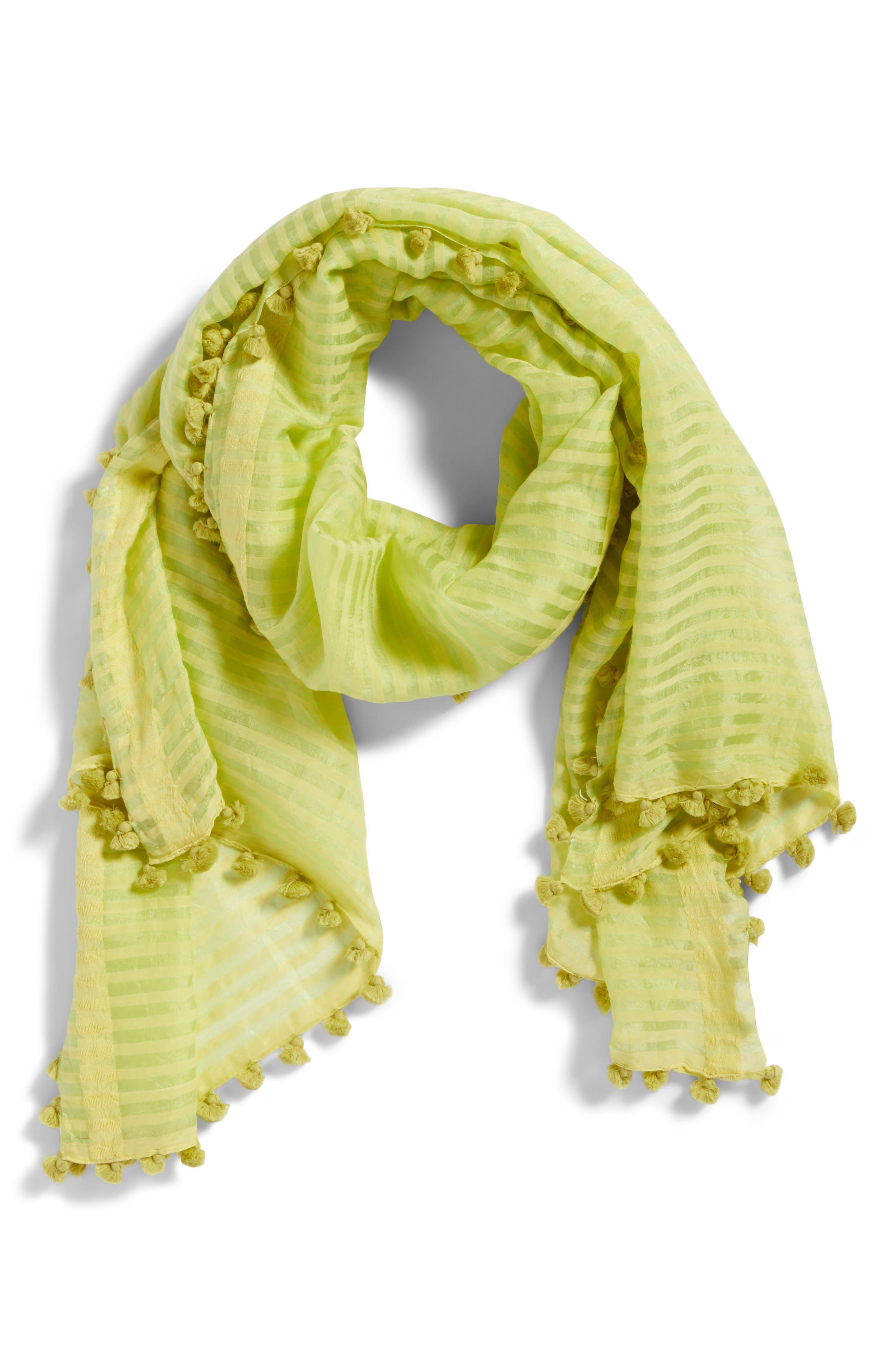 Stripe Cotton & Silk Scarf,                             Alternate thumbnail 2, color,                             361