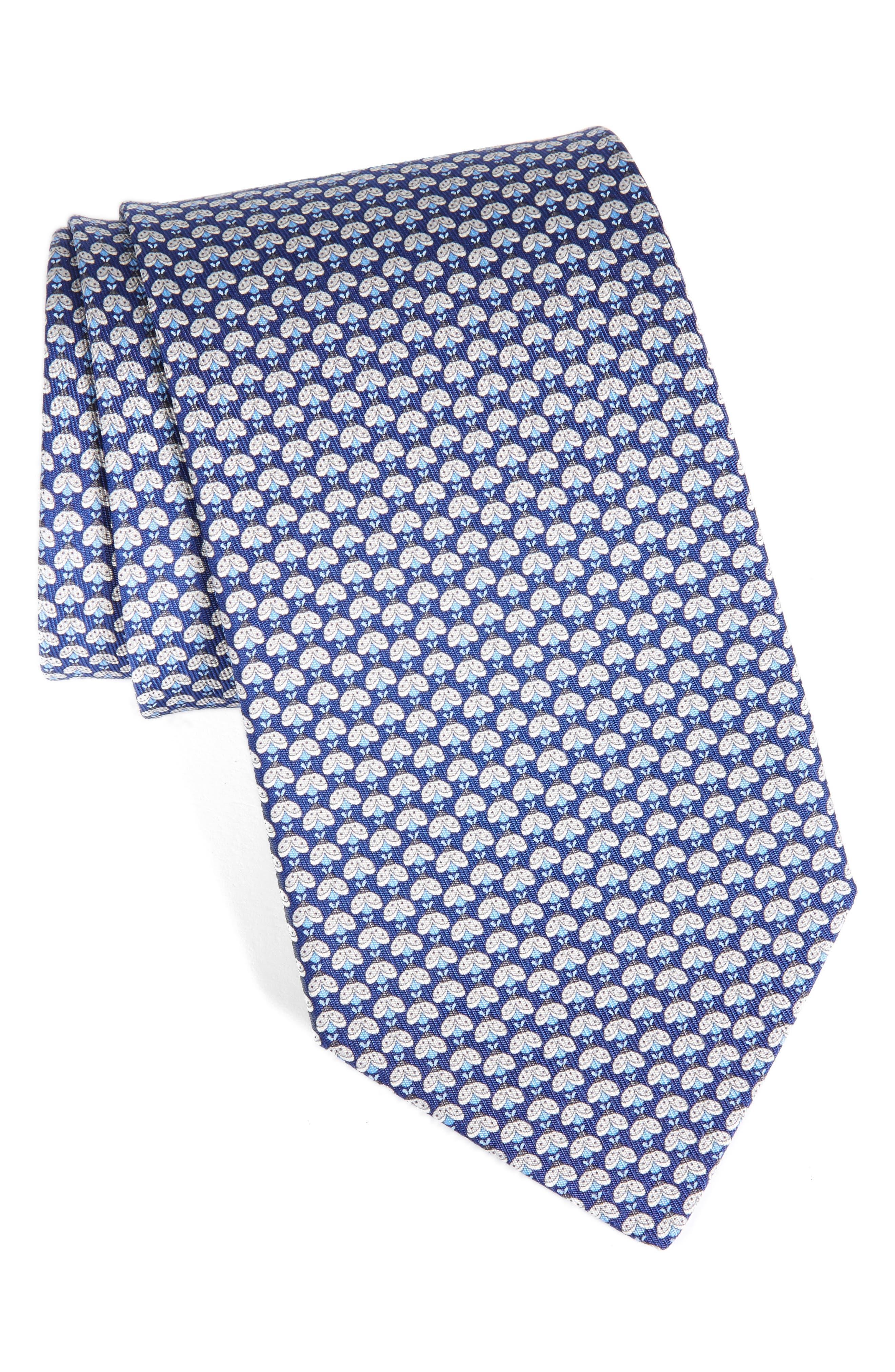 Geo Print Silk Tie,                         Main,                         color, 492