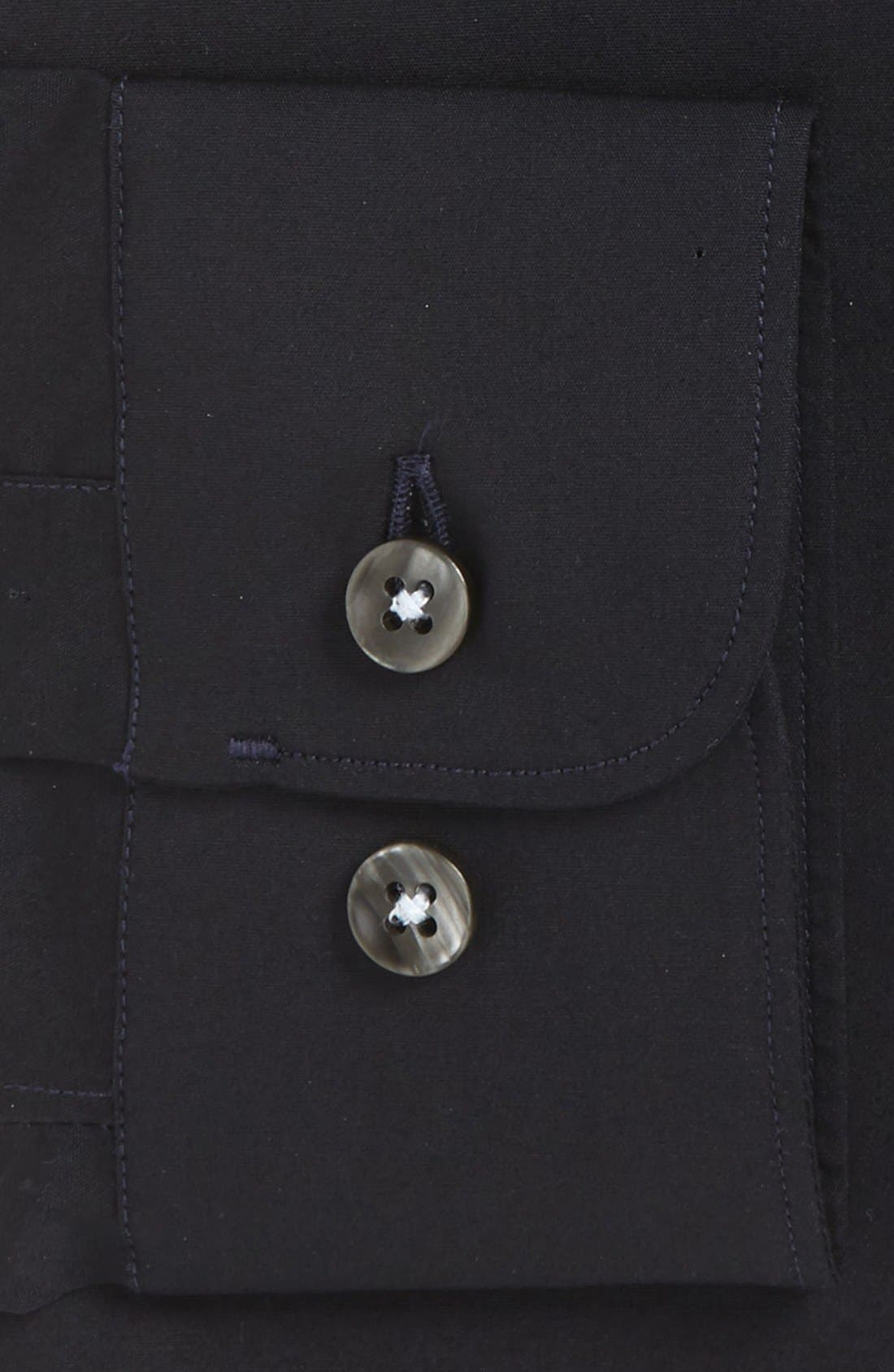 Slim Fit Solid Stretch Dress Shirt,                             Alternate thumbnail 2, color,                             BLUE