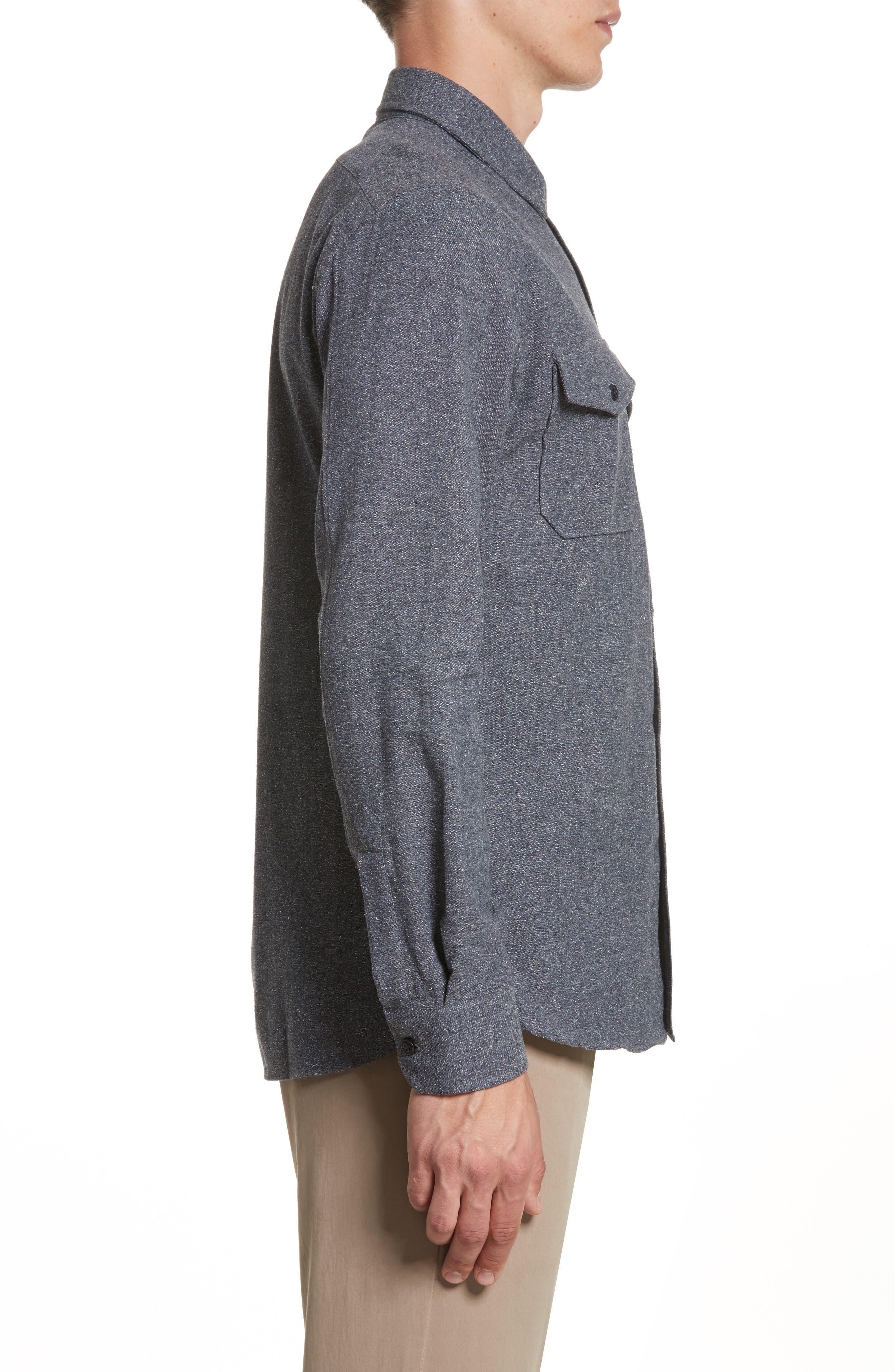 Silk Blend Speckled Work Shirt,                             Alternate thumbnail 4, color,                             410