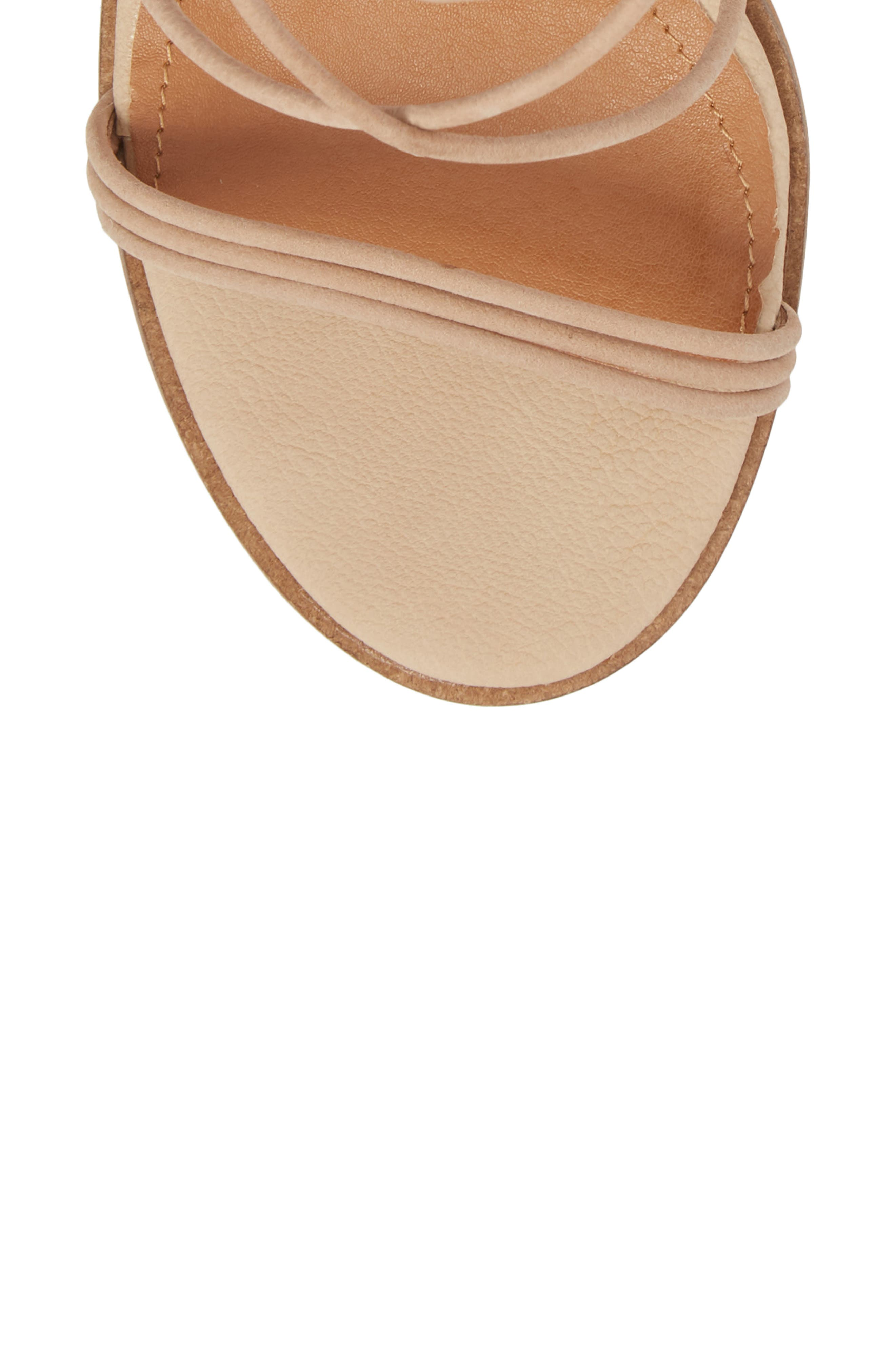 Aflux Tall Strappy Sandal,                             Alternate thumbnail 5, color,                             NATURAL LEATHER