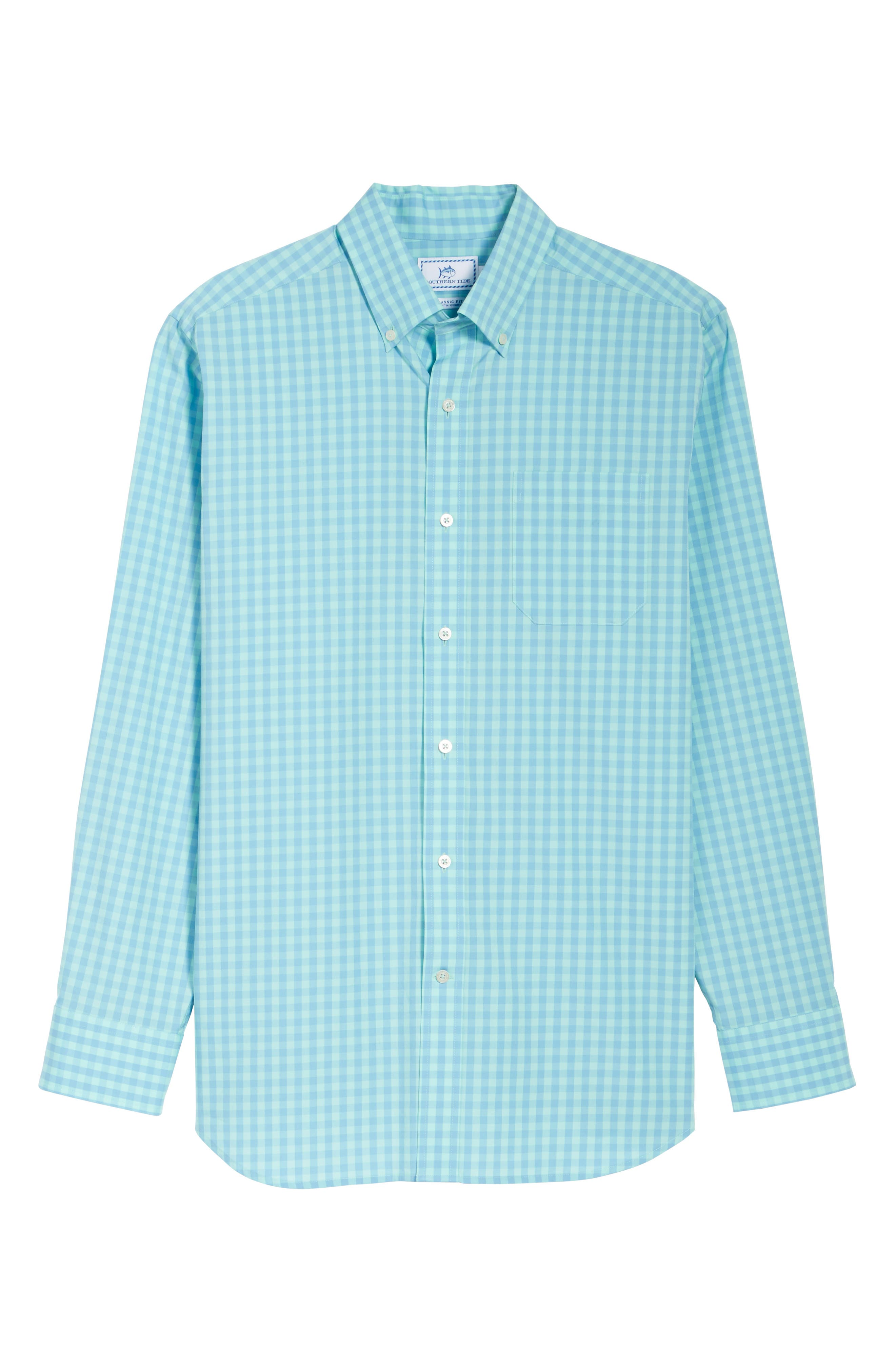 Getaway Gingham Classic Fit Sport Shirt,                             Alternate thumbnail 6, color,                             476