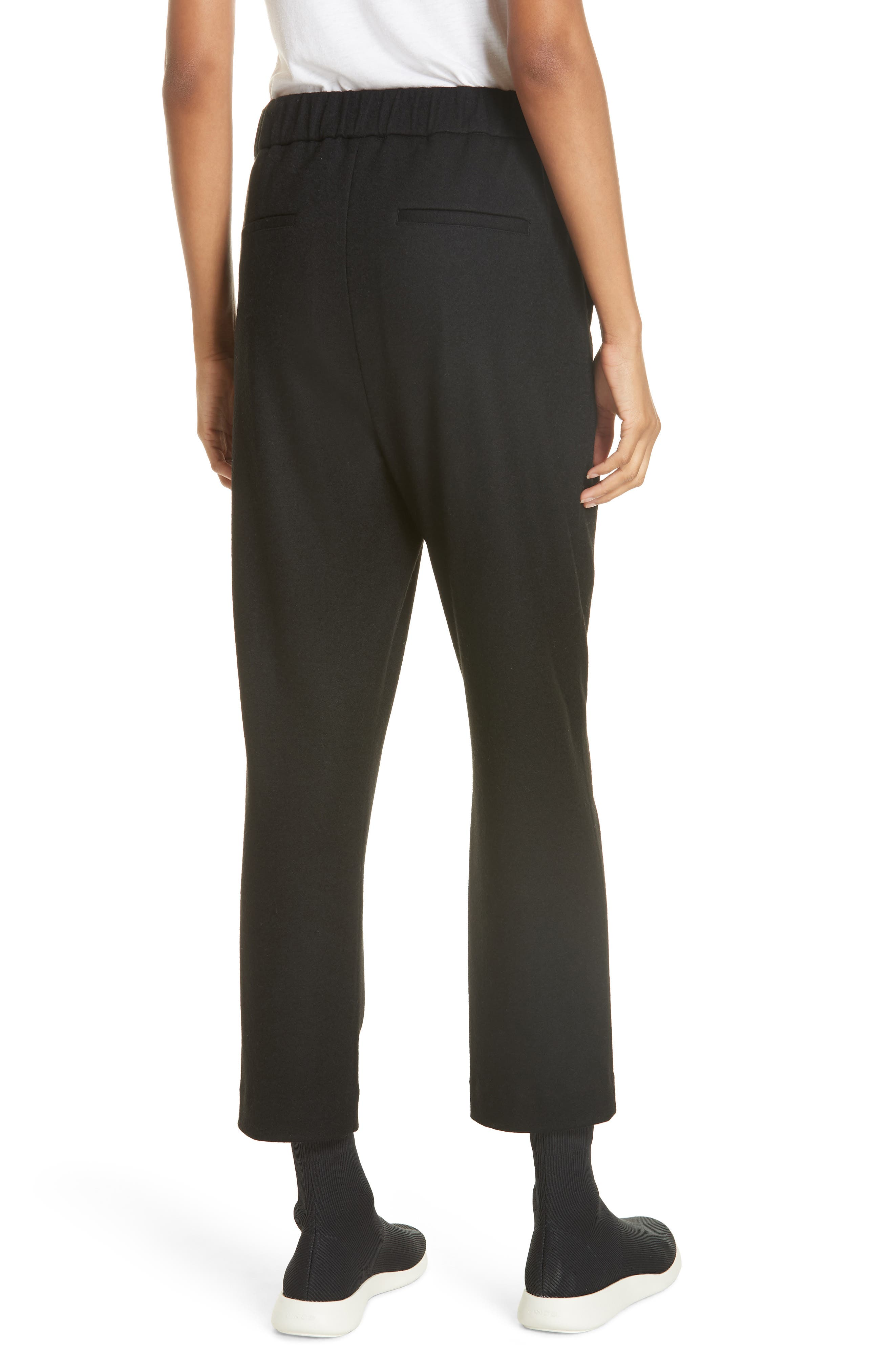 Cropped Pull-On Pants,                             Alternate thumbnail 2, color,                             BLACK