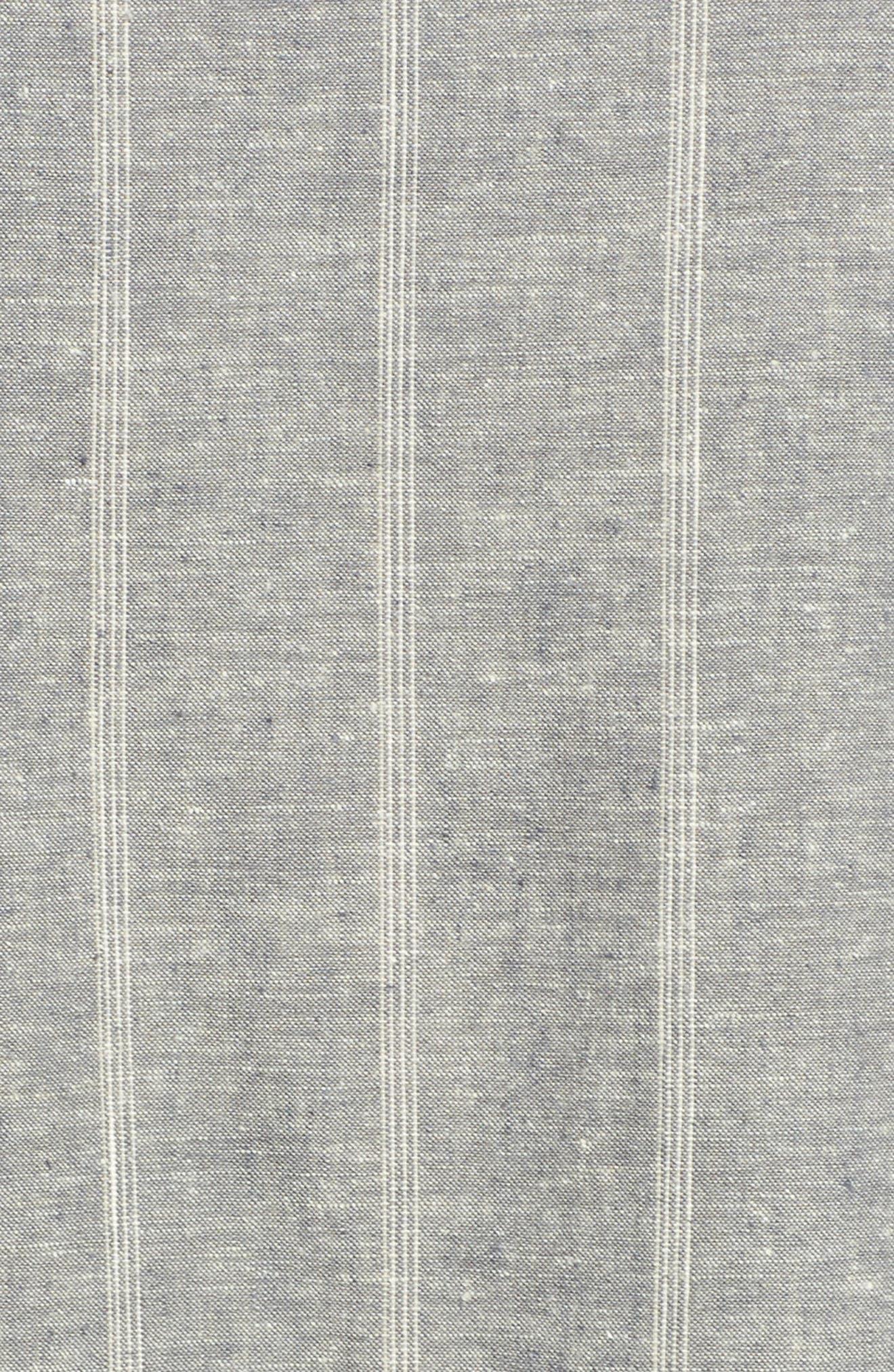 EILEEN FISHER,                             Stripe Hemp & Organic Cotton Shift Dress,                             Alternate thumbnail 6, color,                             MOON