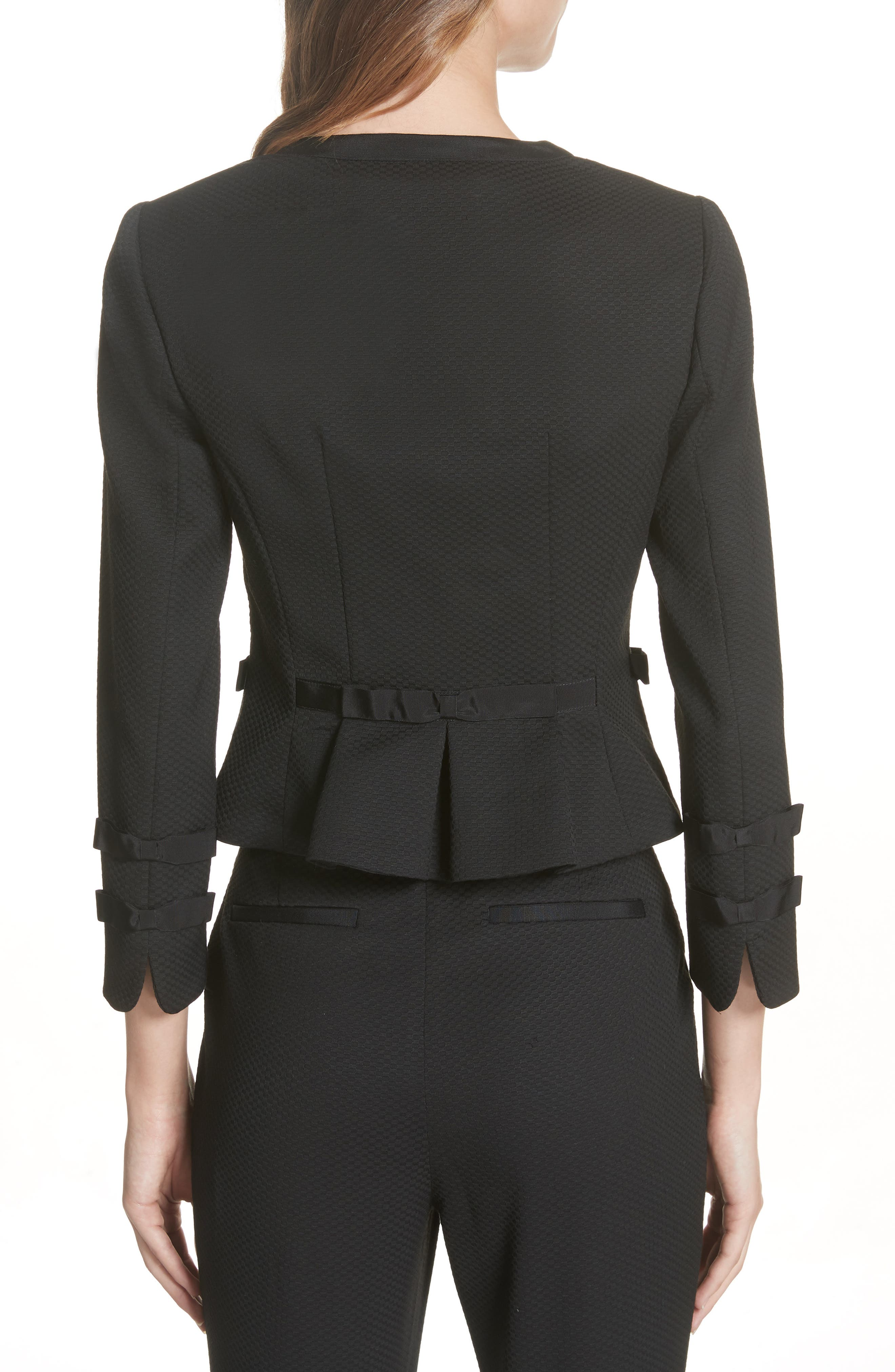 Ted Working Title Nadae Cropped Textured Jacket,                             Alternate thumbnail 2, color,                             BLACK
