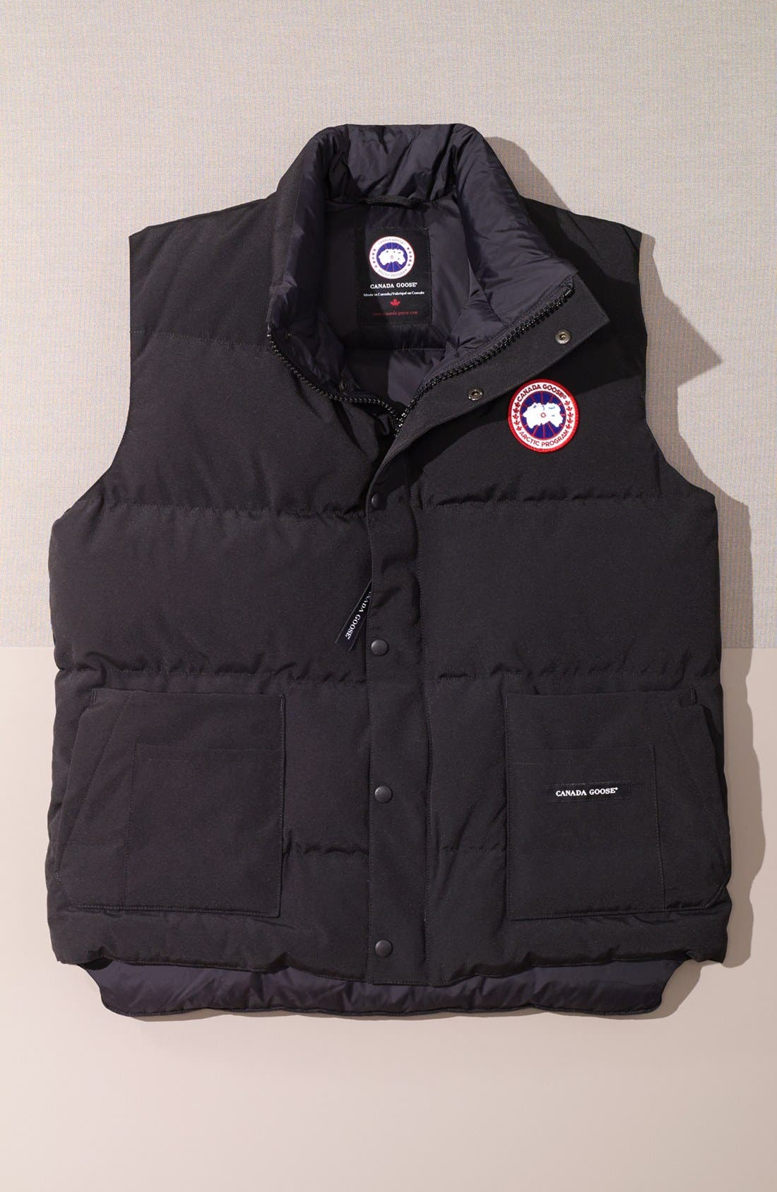 'Freestyle' Water Resistant Regular Fit Down Vest,                             Alternate thumbnail 4, color,                             NAVY