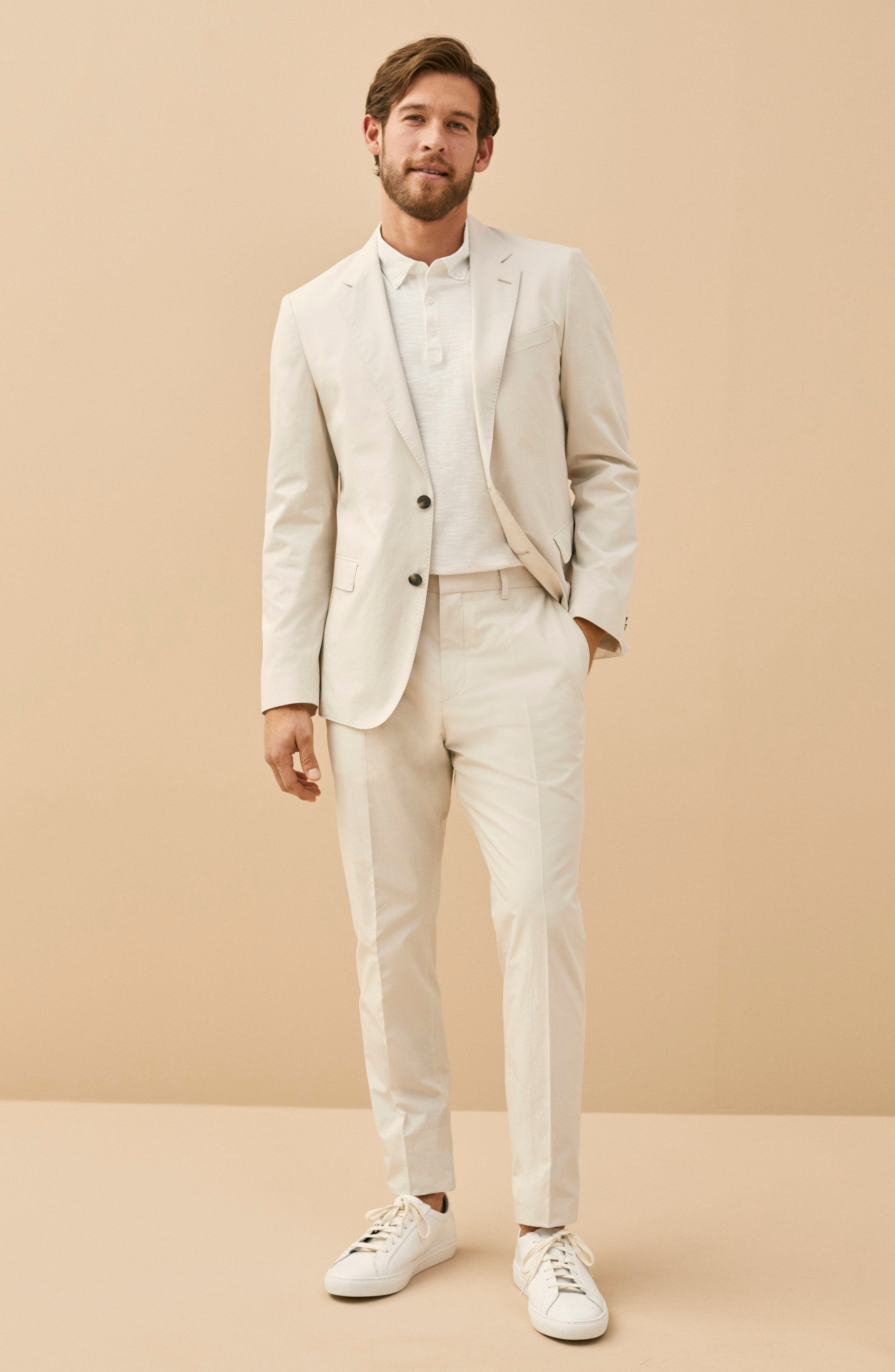 Nylen/Perry Trim Fit Solid Cotton Suit,                             Alternate thumbnail 12, color,