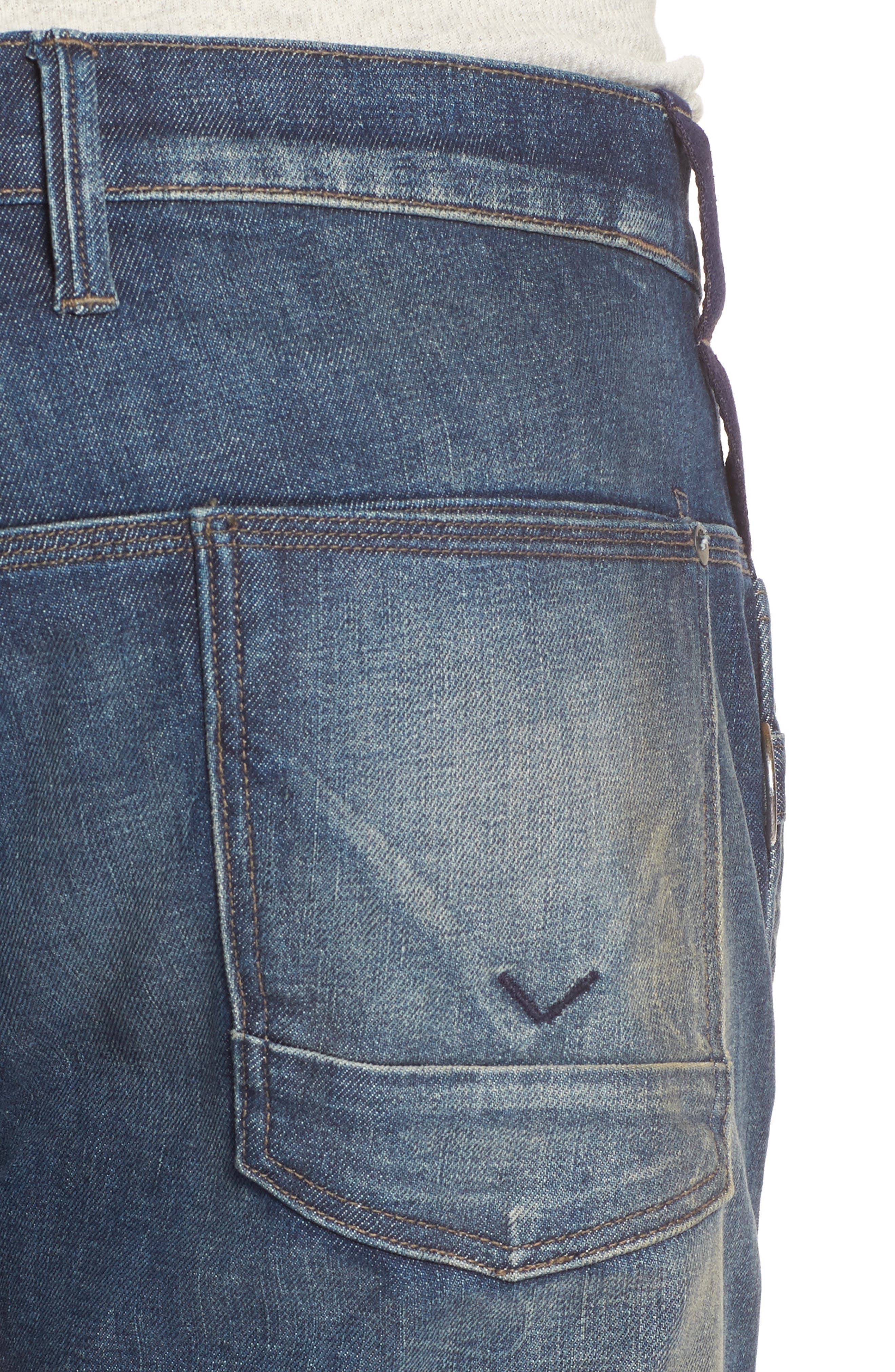 Hunter Straight Fit Jeans,                             Alternate thumbnail 4, color,                             422