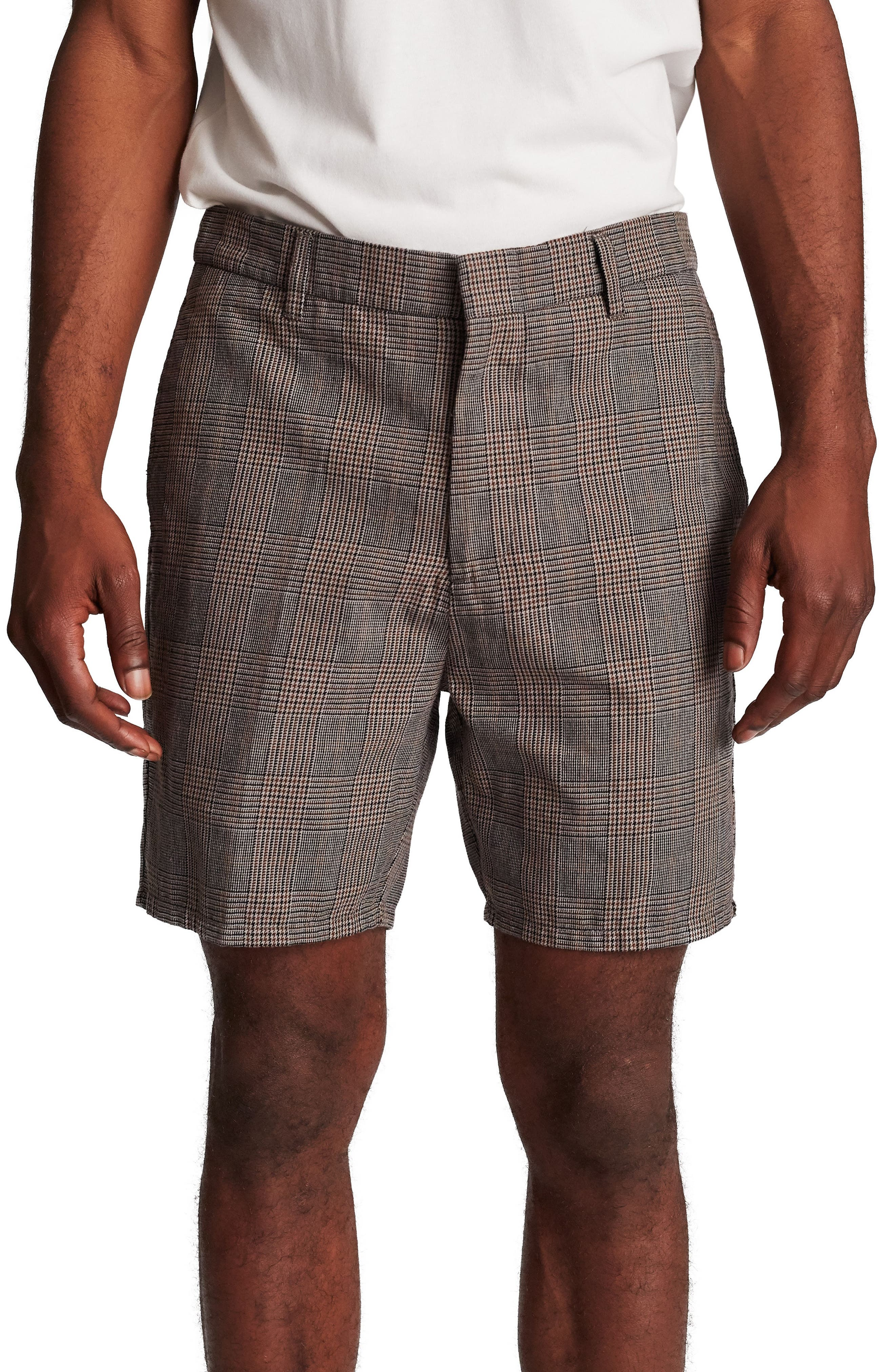 Graduate Slack Shorts,                             Main thumbnail 1, color,                             GREY PLAID