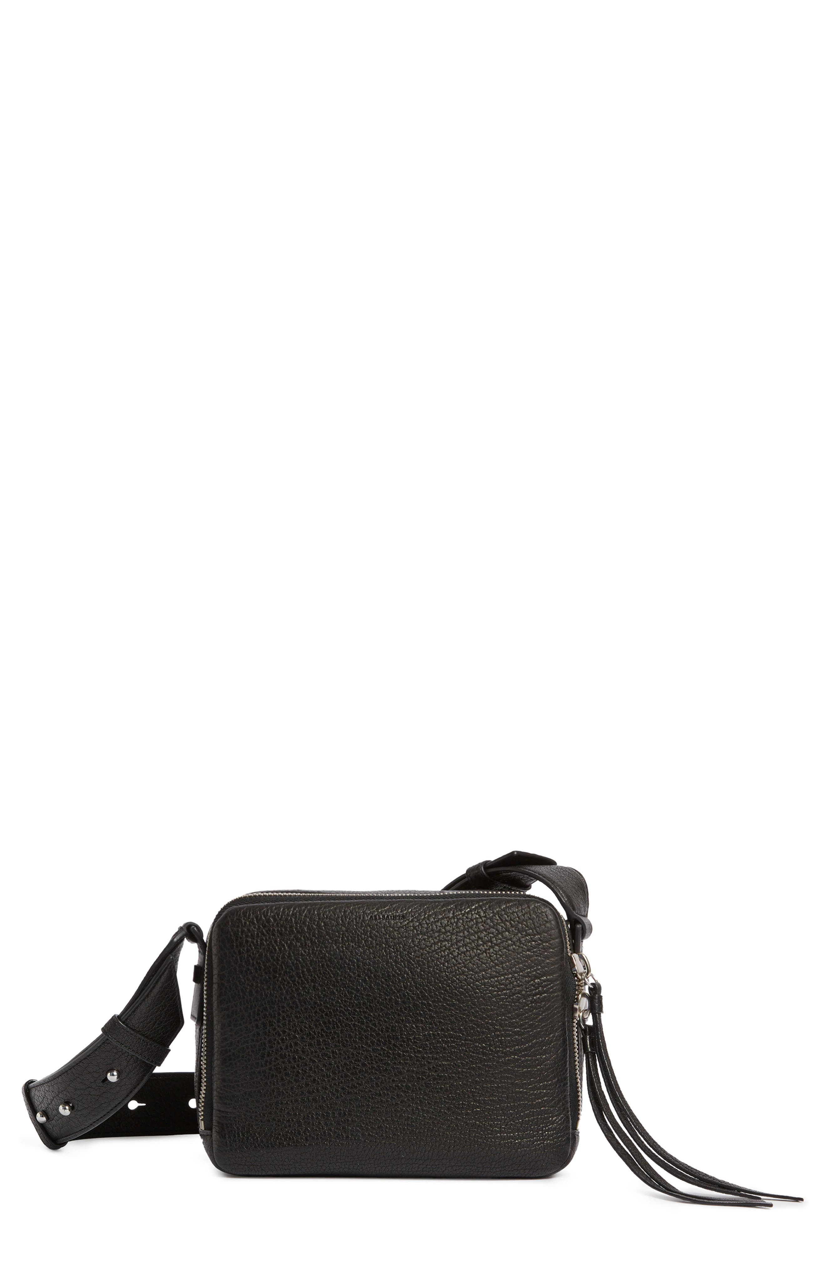 Vincent Leather Crossbody Bag,                             Main thumbnail 1, color,                             001