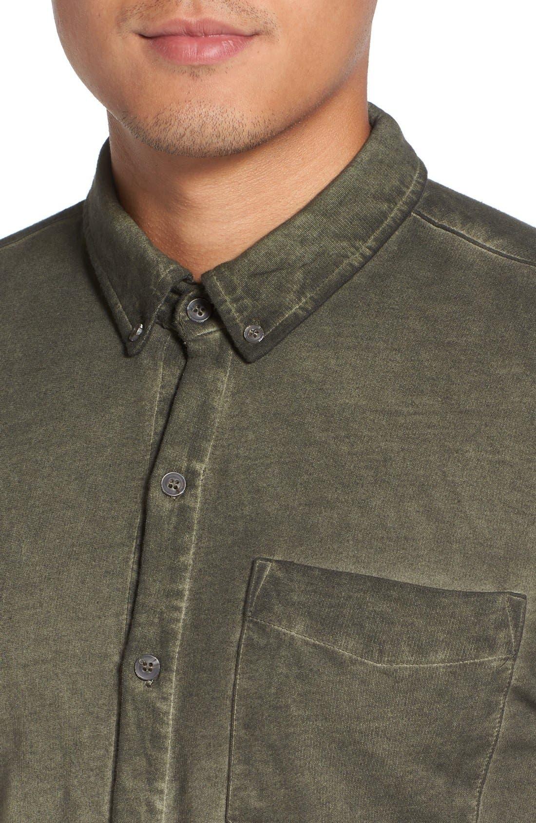 Slim Fit Garment Washed Sport Shirt,                             Alternate thumbnail 12, color,