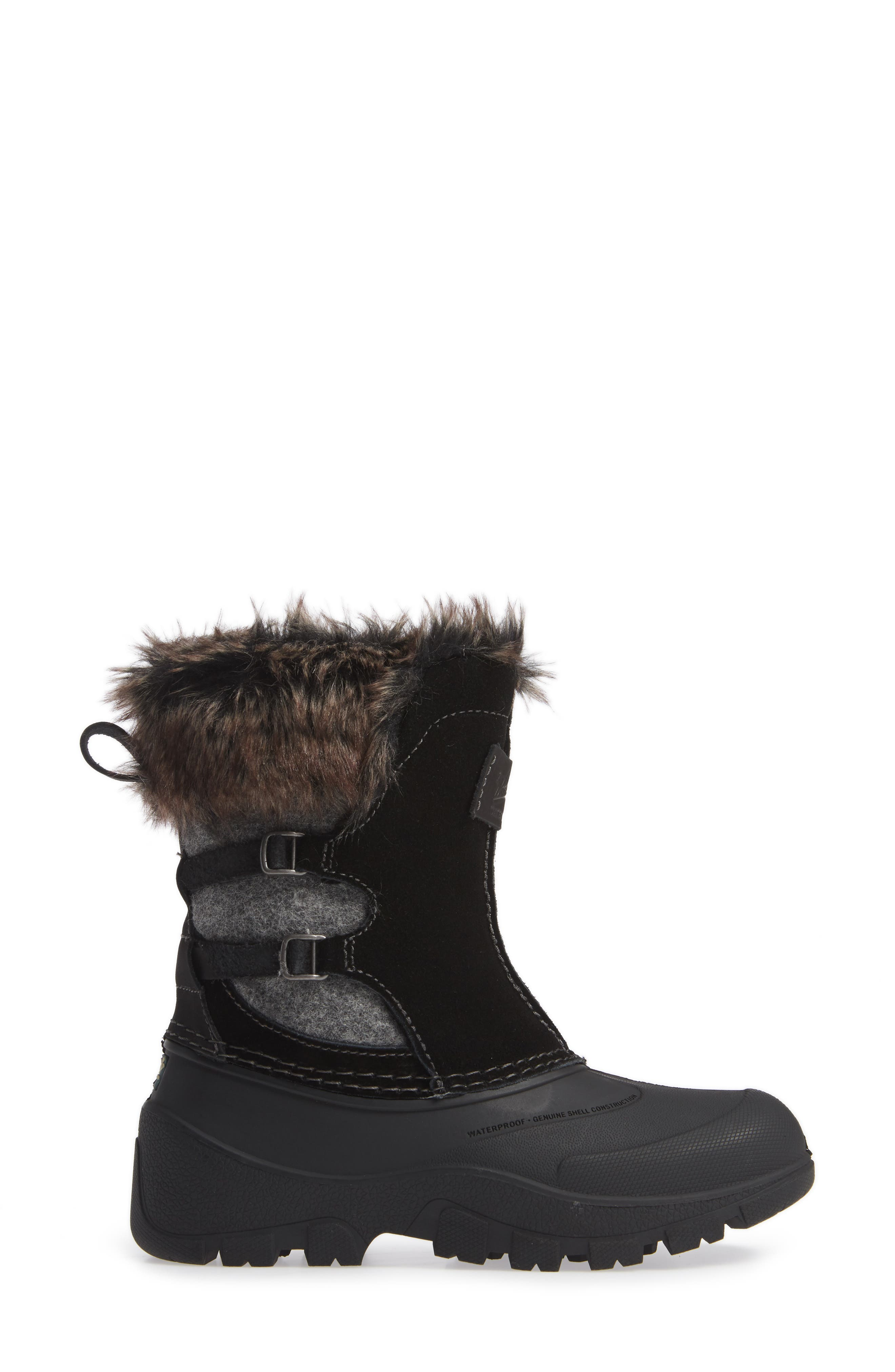 Icecat II Fully Wooly Waterproof Insulated Winter Boot,                             Alternate thumbnail 3, color,                             BLACK WOOL