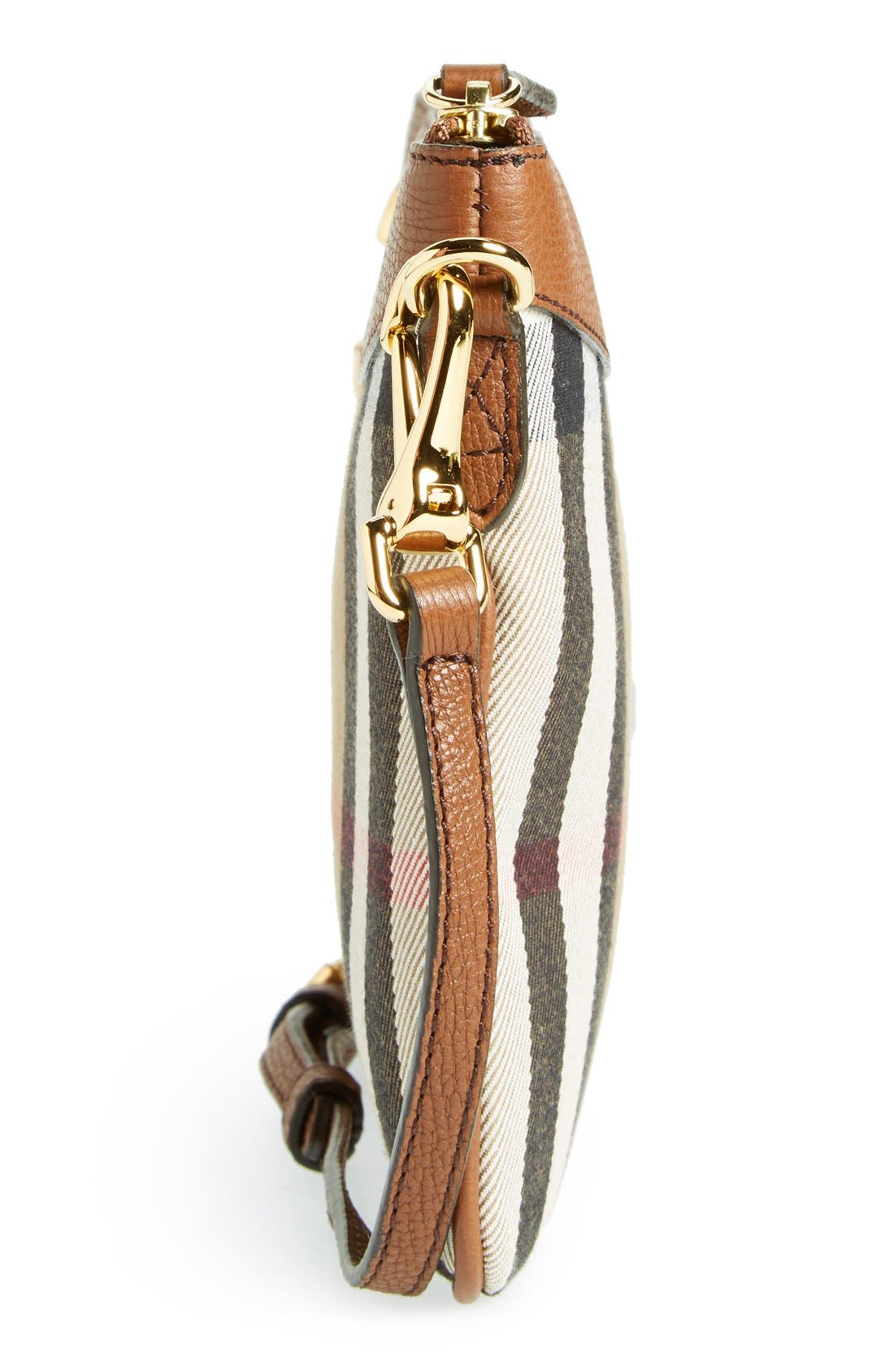 'Peyton - House Check' Crossbody Bag,                             Alternate thumbnail 3, color,                             250