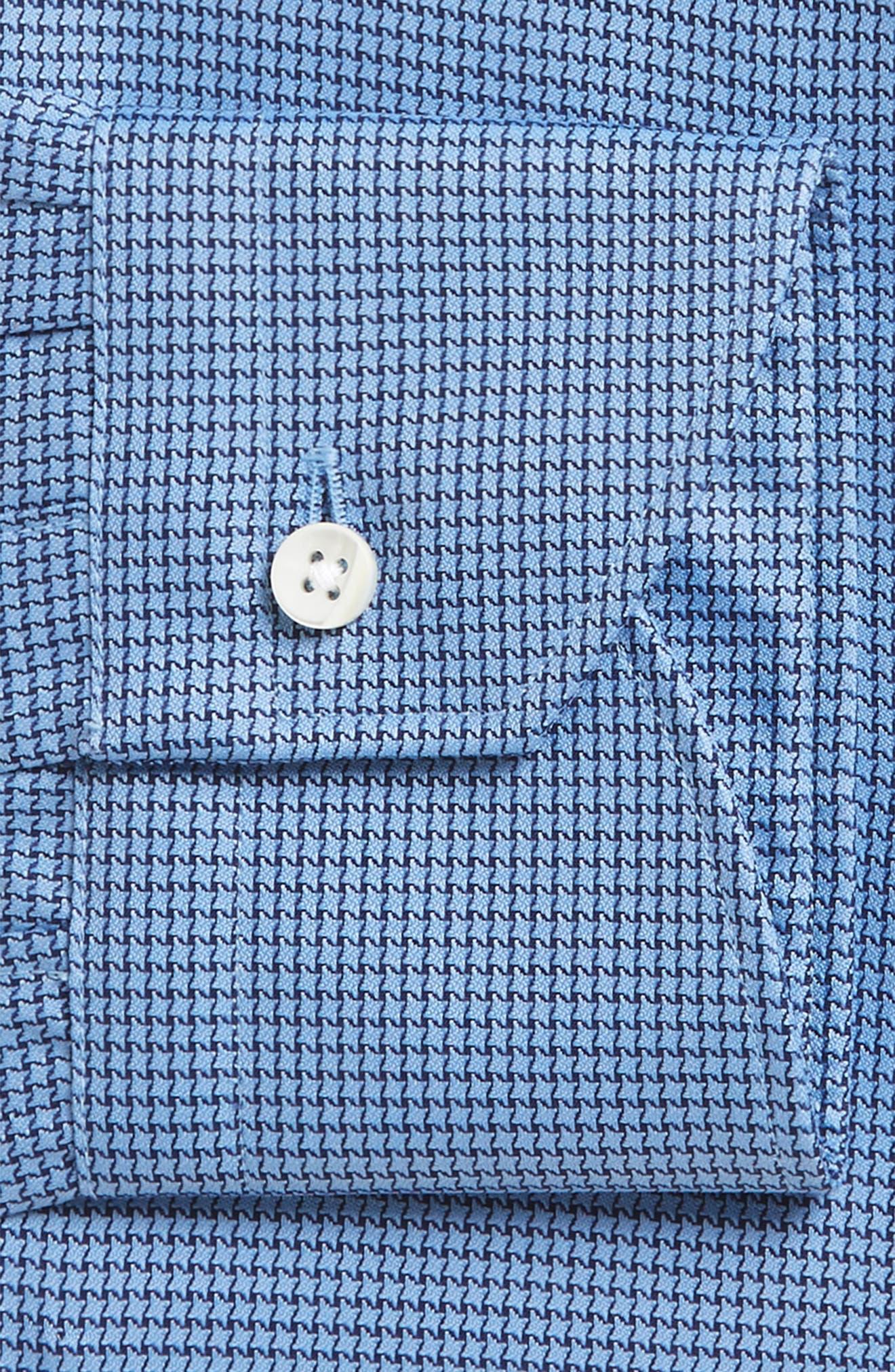 Regular Fit Houndstooth Dress Shirt,                         Main,                         color, 420