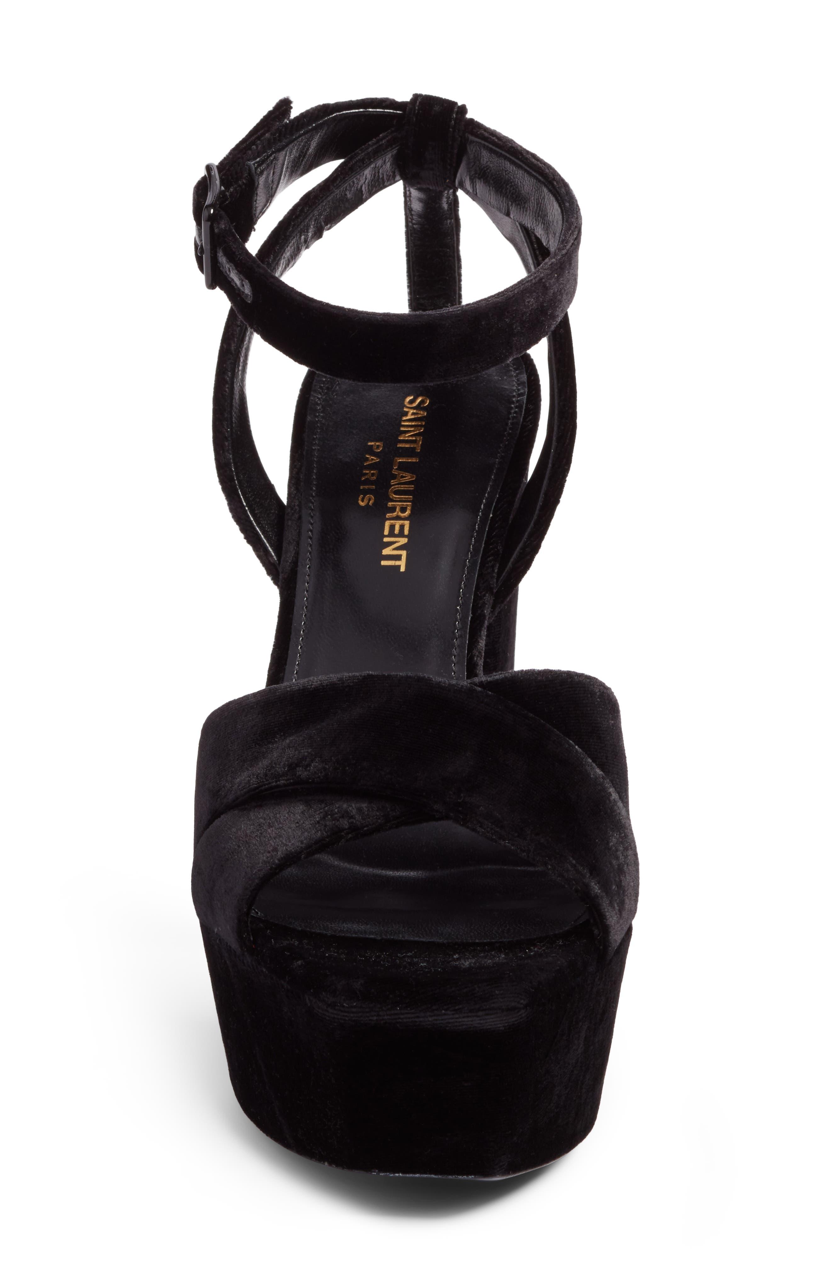 Farrah Platform Sandal,                             Alternate thumbnail 4, color,                             001