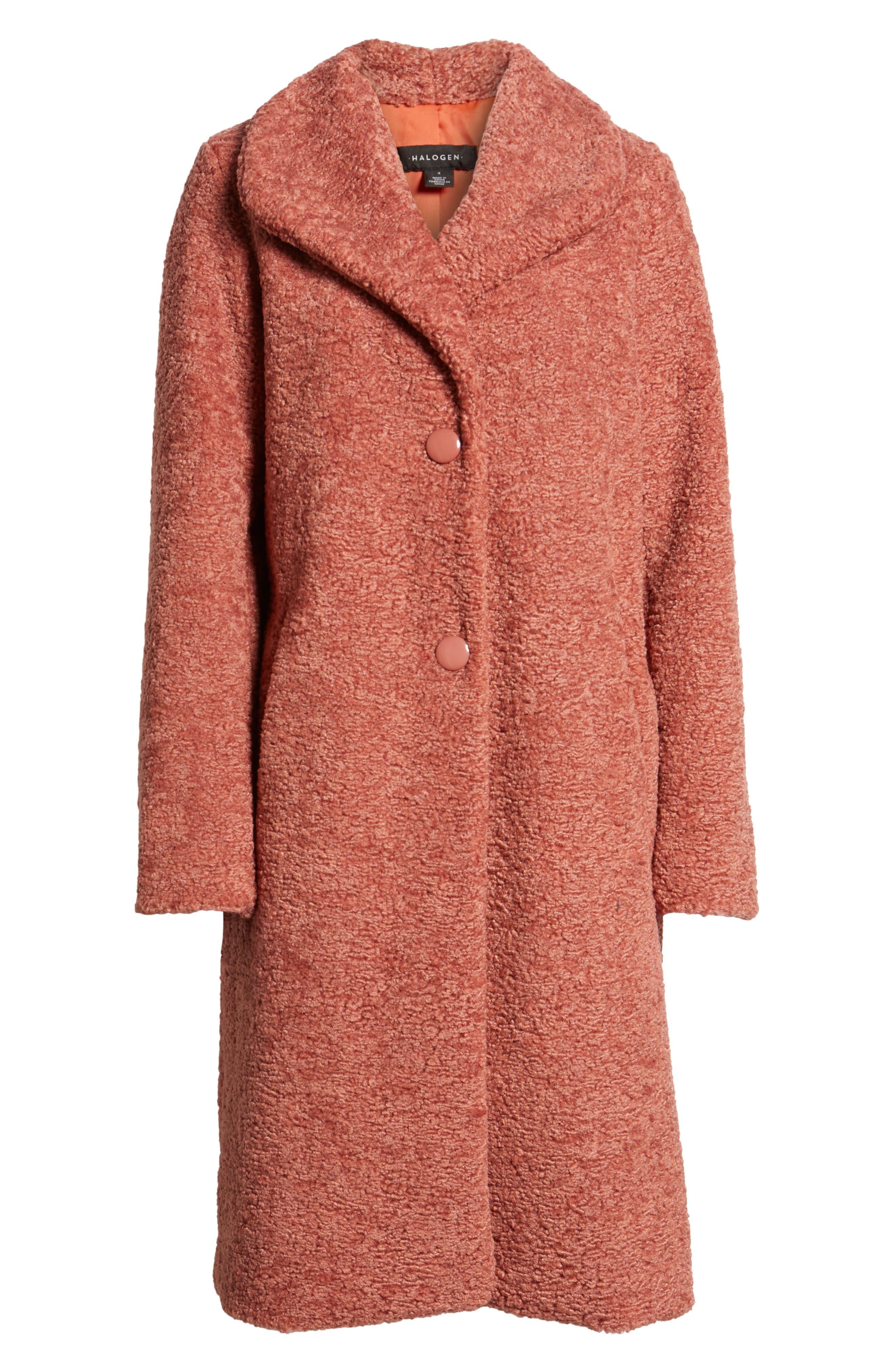 HALOGEN<SUP>®</SUP>,                             Faux Fur Coat,                             Alternate thumbnail 6, color,                             630