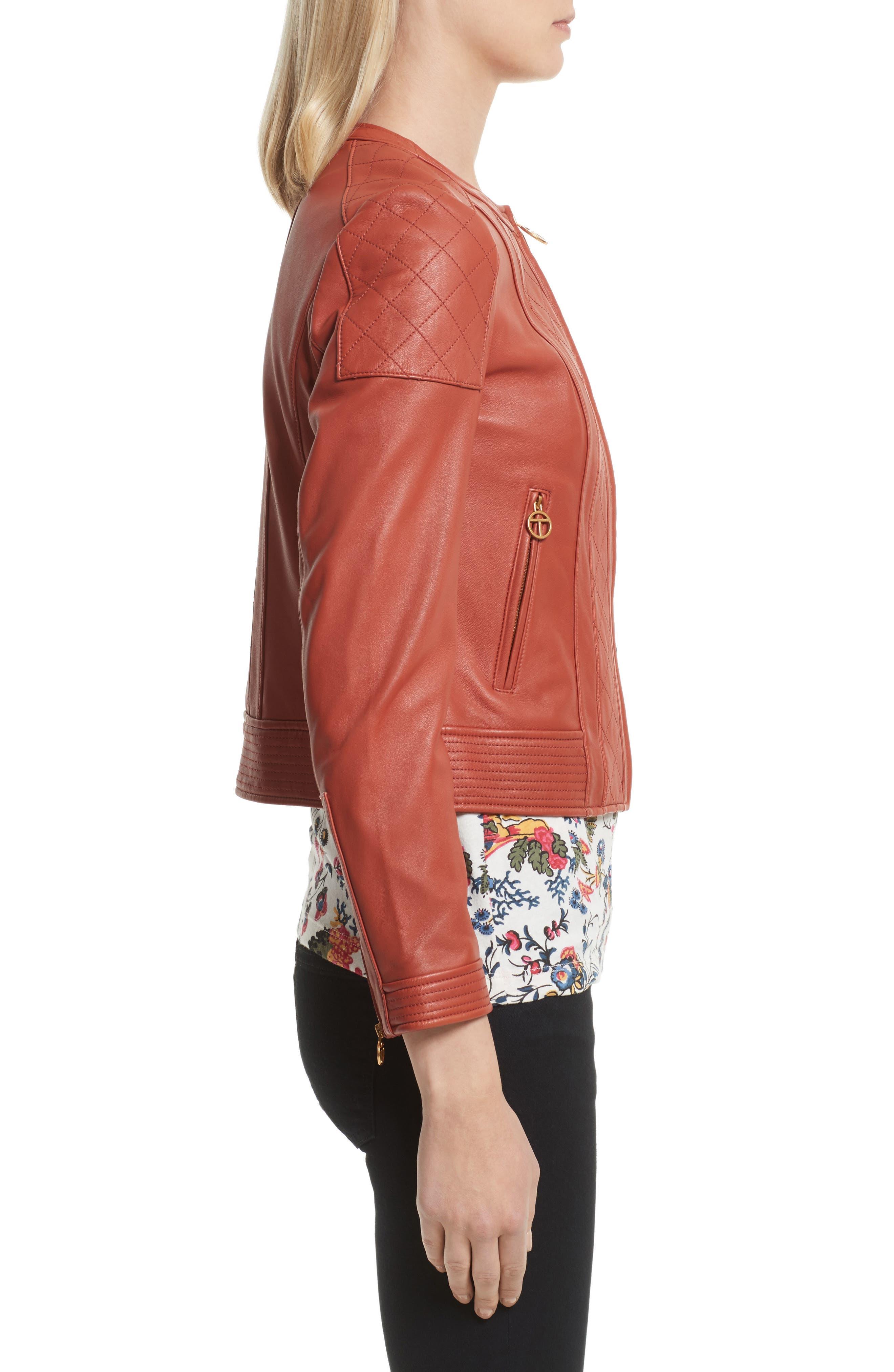 Ryder Leather Jacket,                             Alternate thumbnail 3, color,                             232