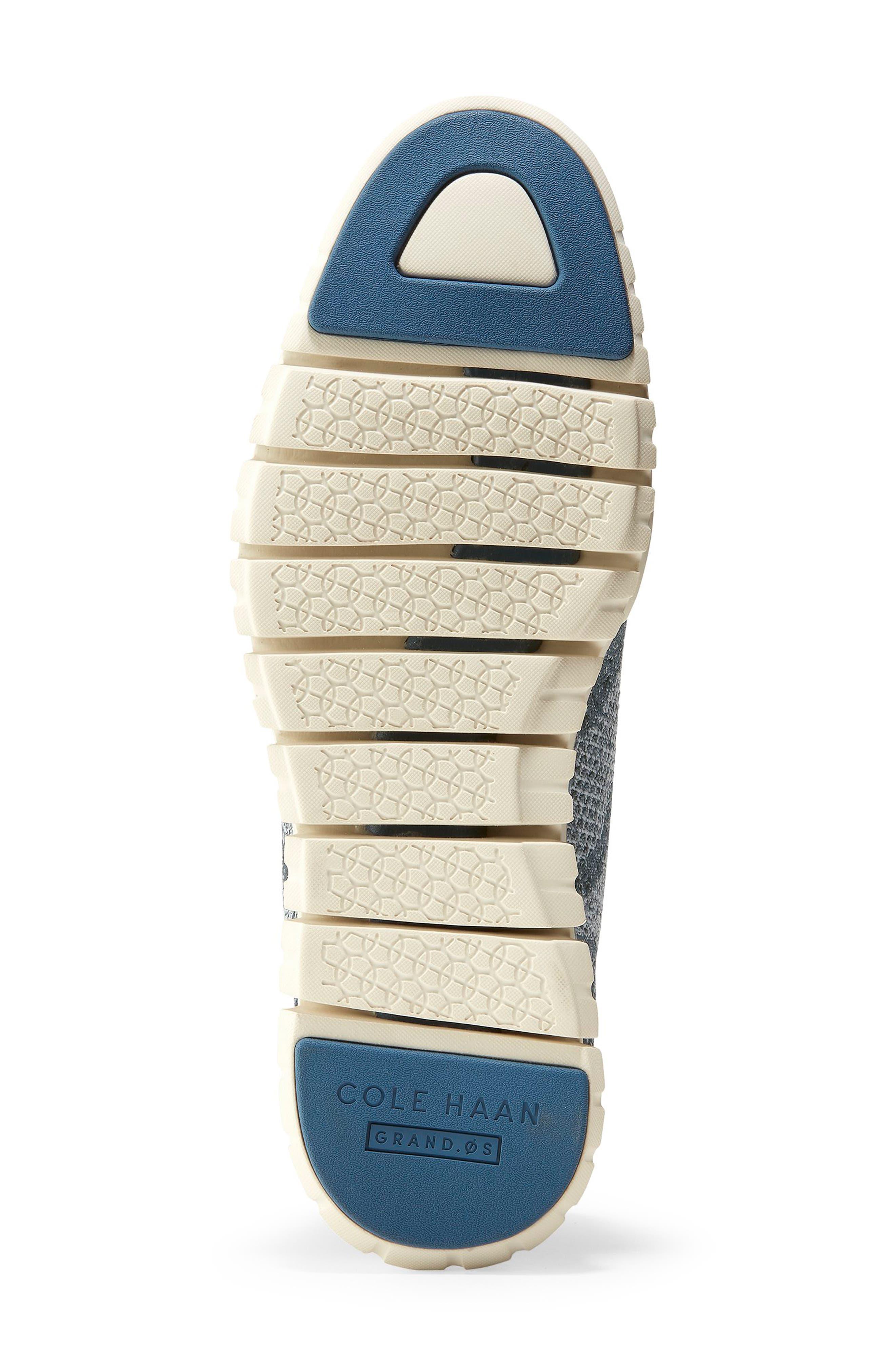 ZeroGrand Stitchlite Woven Wool Wingtip,                             Alternate thumbnail 6, color,                             BLUEBERRY KNIT