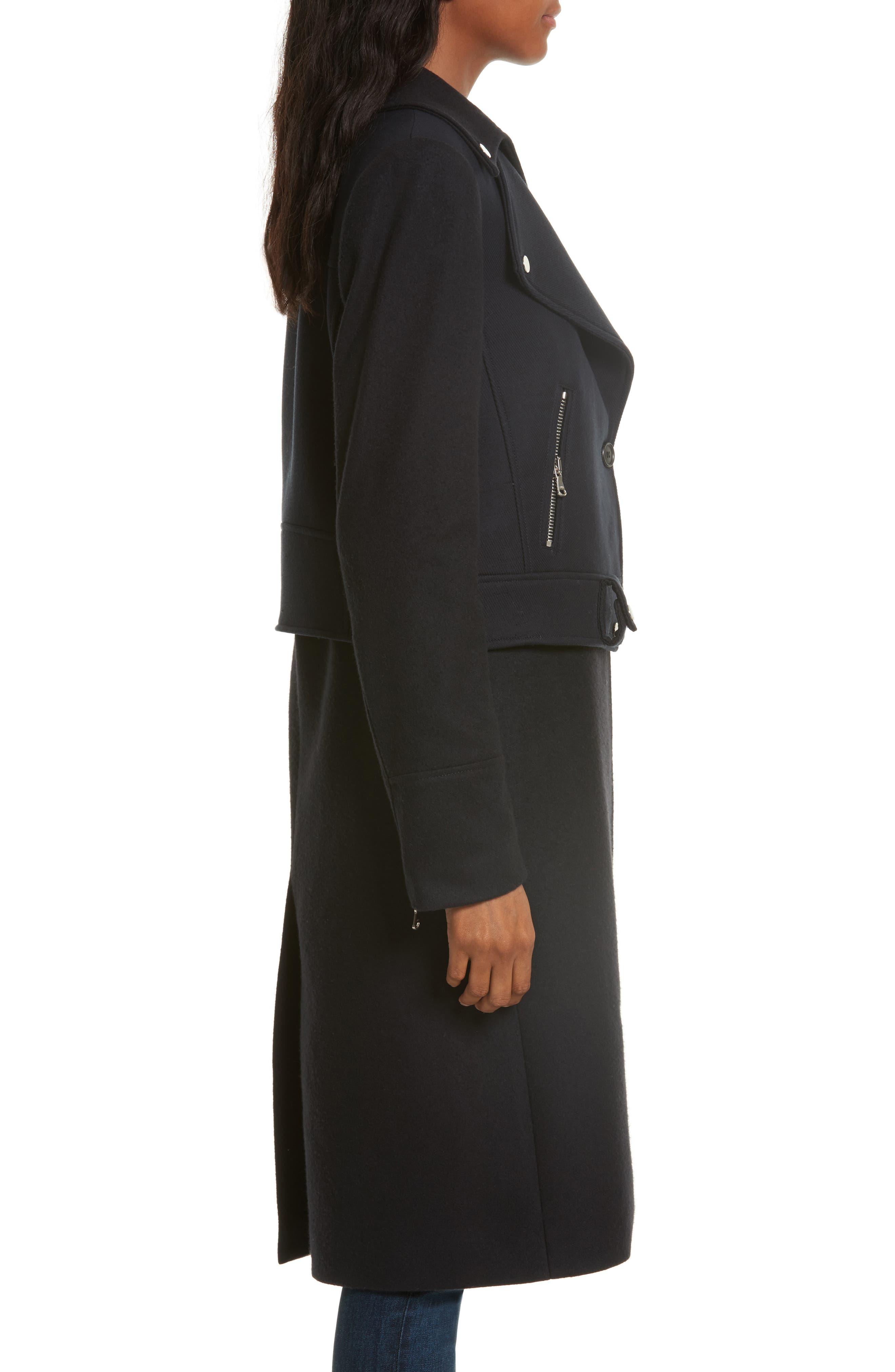 Alcott Wool & Cashmere Blend Vest Coat,                             Alternate thumbnail 3, color,                             414