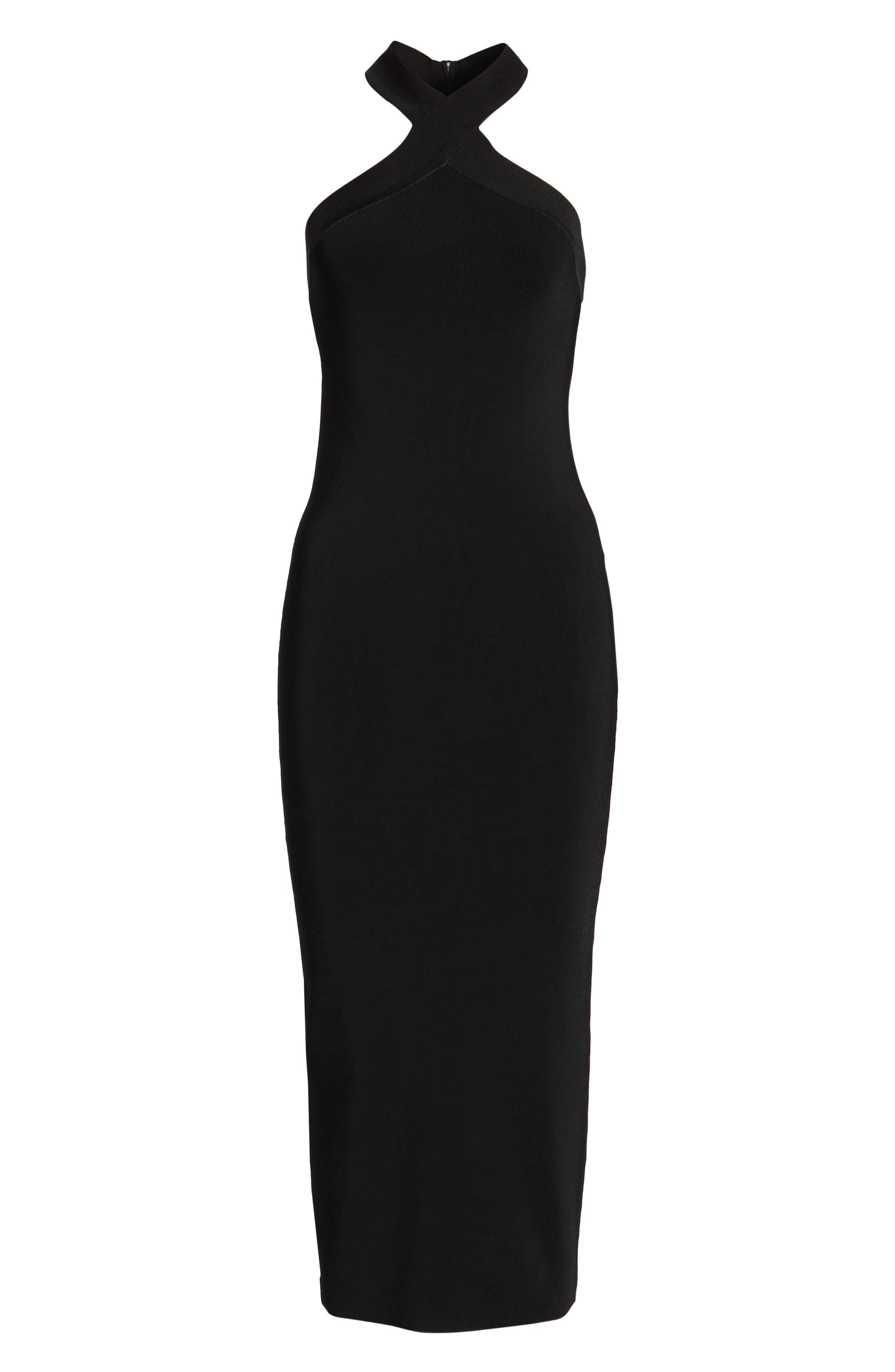 Halter Dress,                             Alternate thumbnail 6, color,                             001