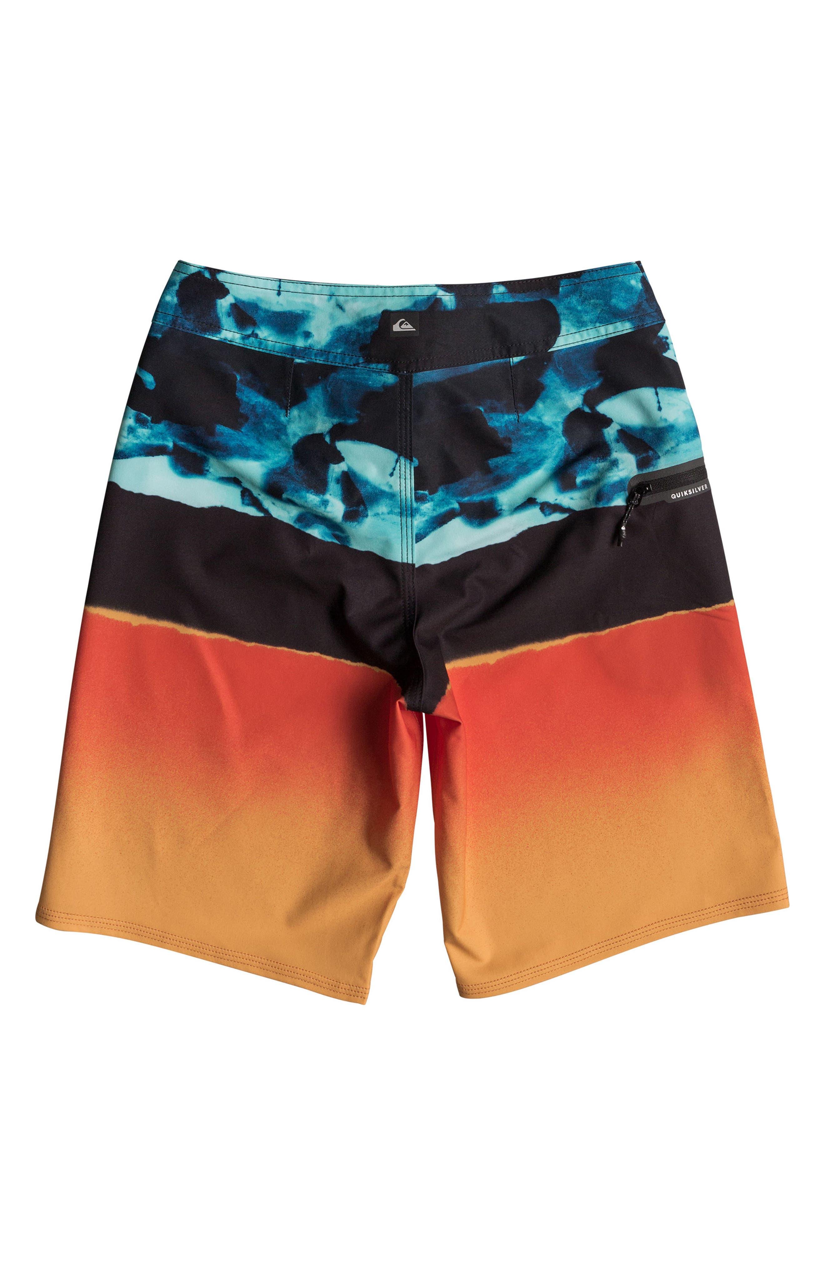 Blocked Resin Camo Board Shorts,                             Alternate thumbnail 2, color,                             407