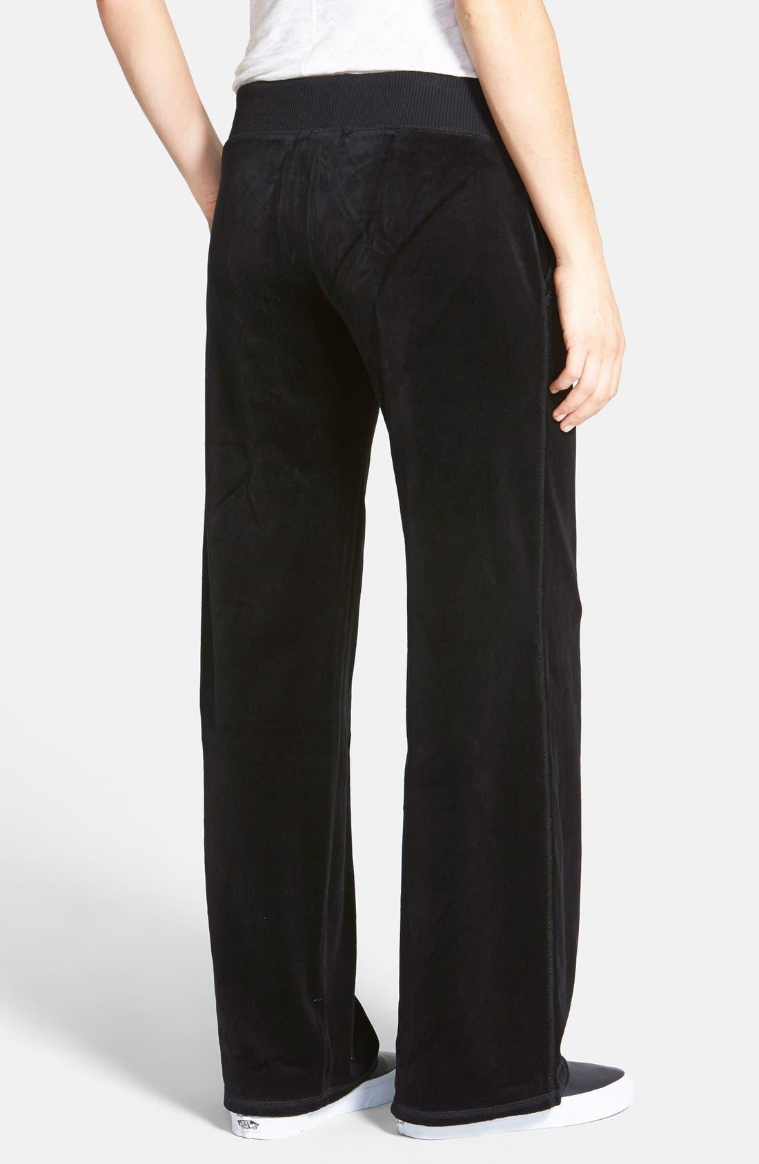 Pull-On Velour Pants,                             Alternate thumbnail 2, color,                             002