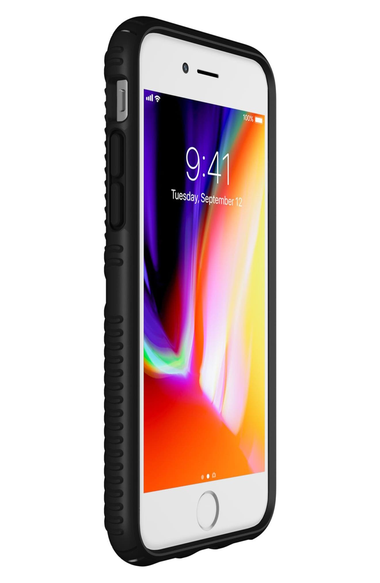 Grip iPhone 6/6s/7/8 Case,                             Alternate thumbnail 4, color,                             BLACK/ BLACK