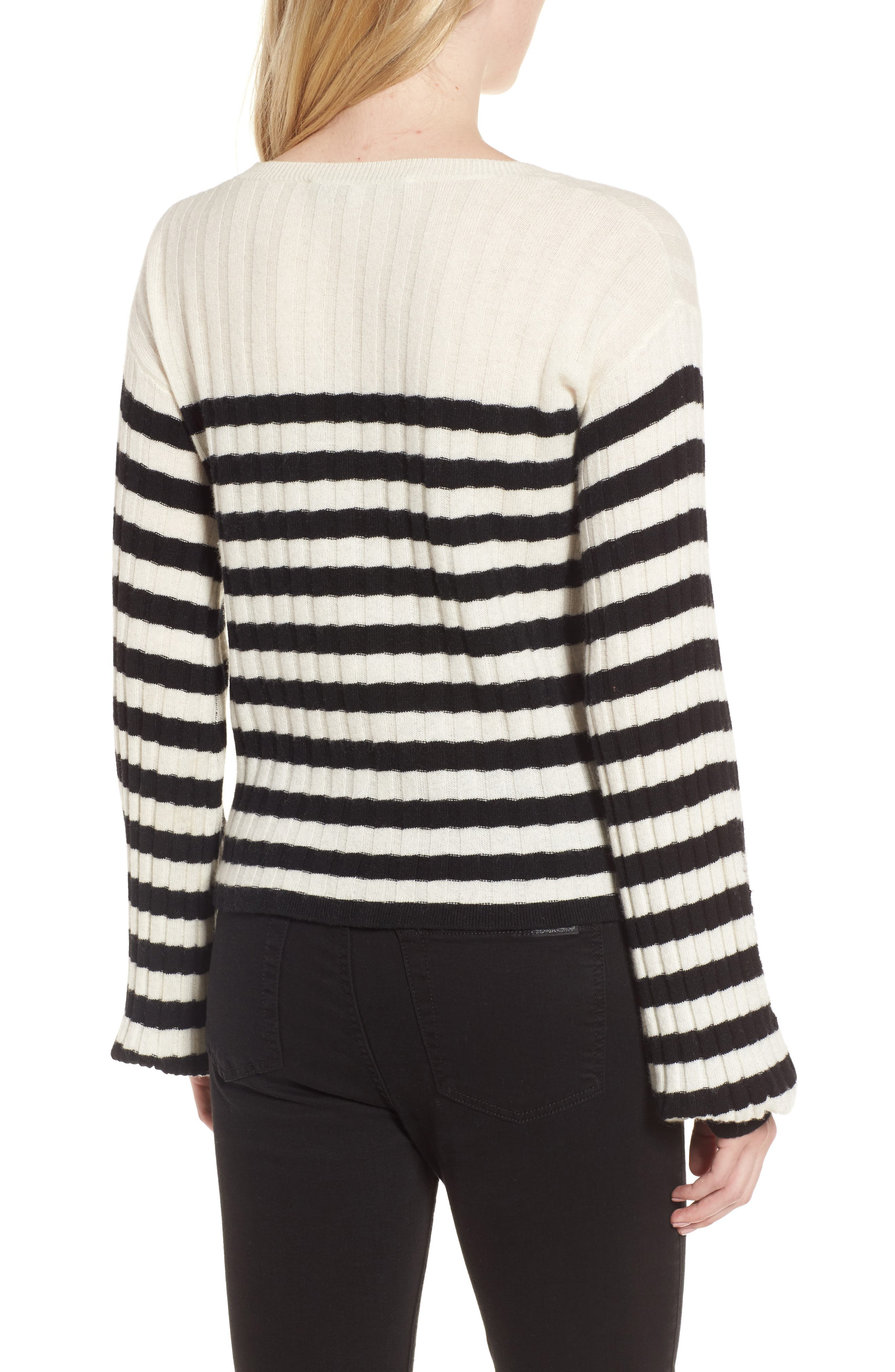 Destroyed Stripe Sweater,                             Alternate thumbnail 2, color,                             004