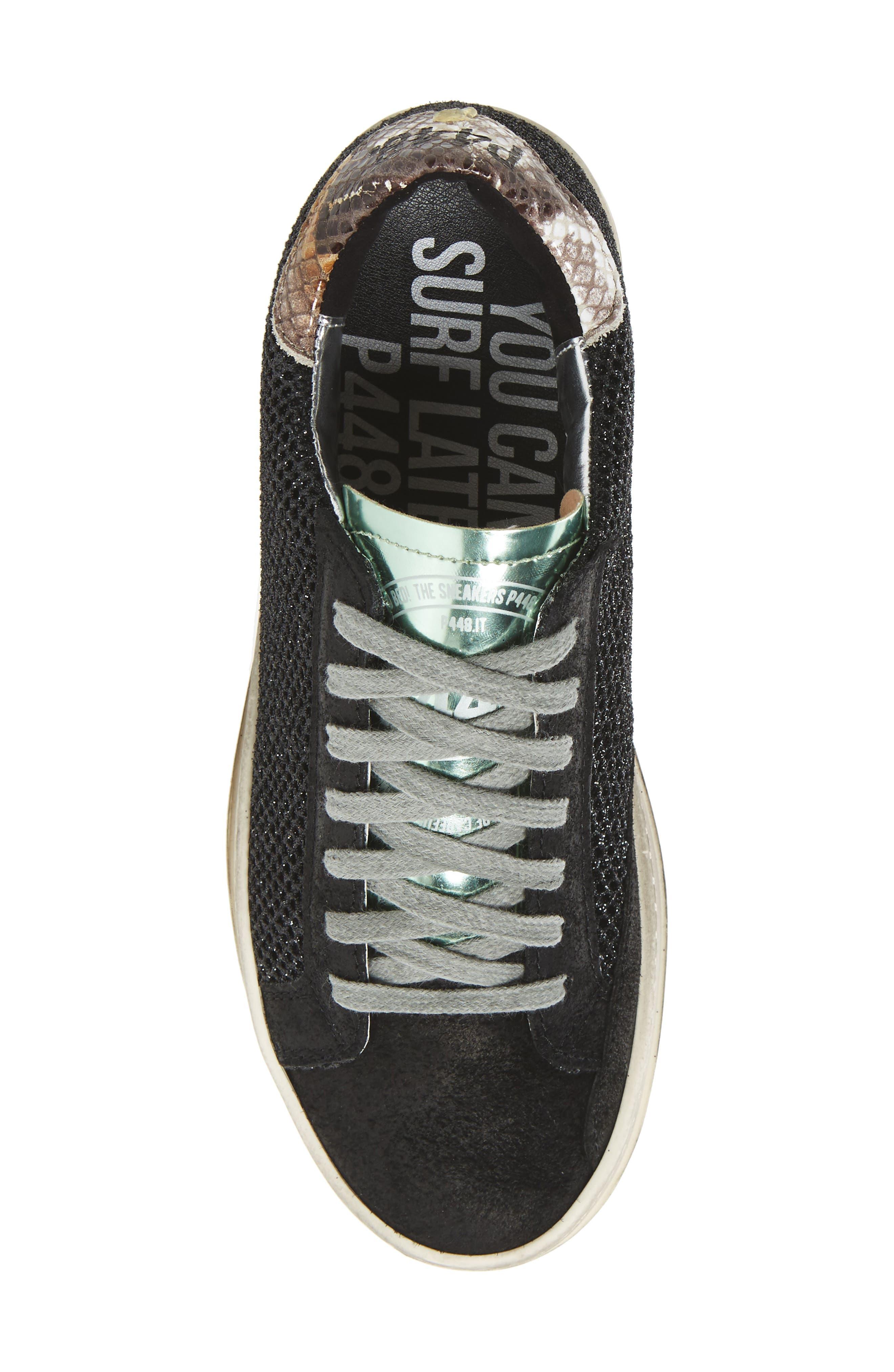 John Sneaker,                             Alternate thumbnail 5, color,                             GLITTER TECHNICAL MESH