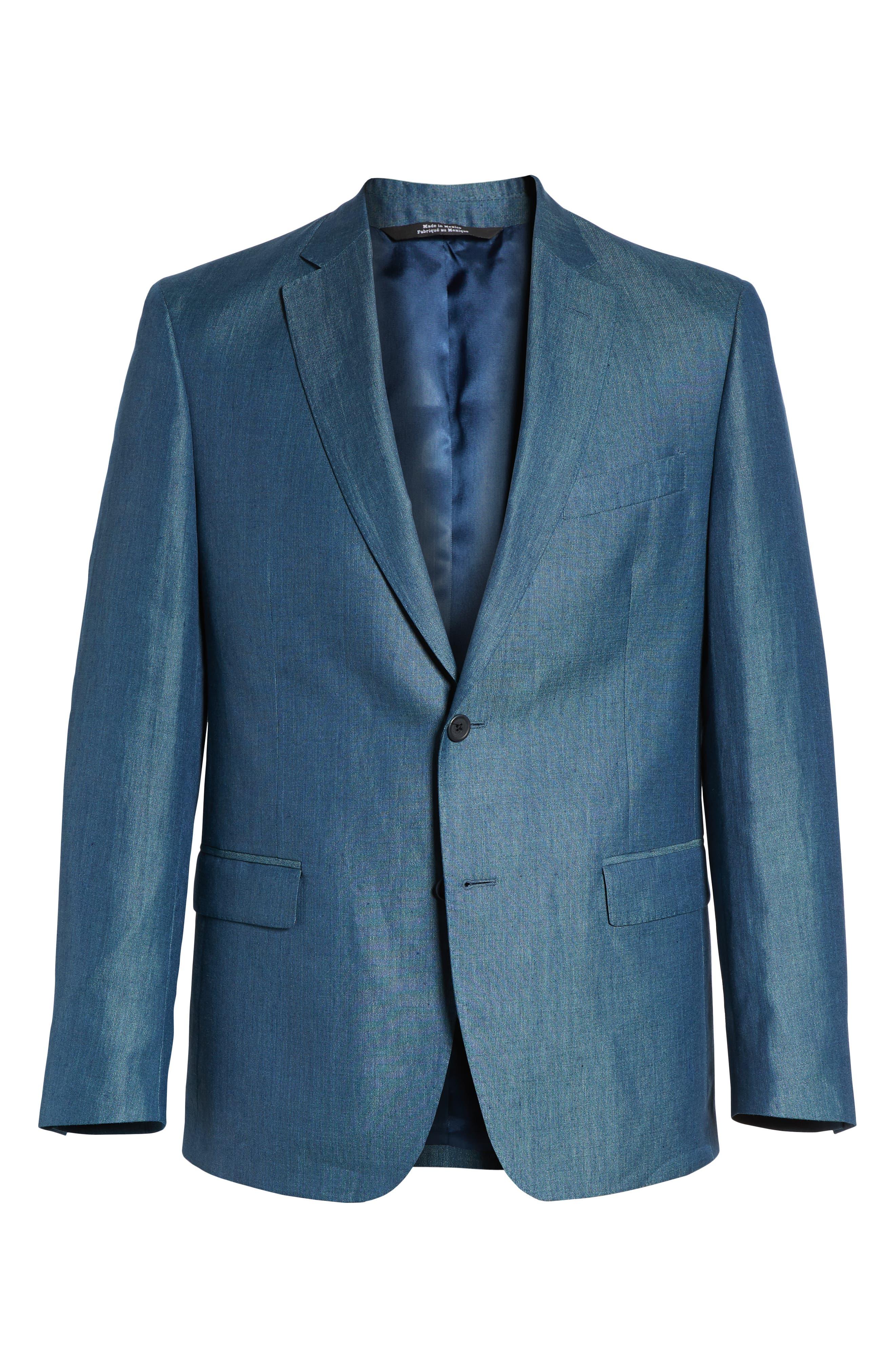 Traditional Fit Linen & Silk Blazer,                             Alternate thumbnail 5, color,                             440