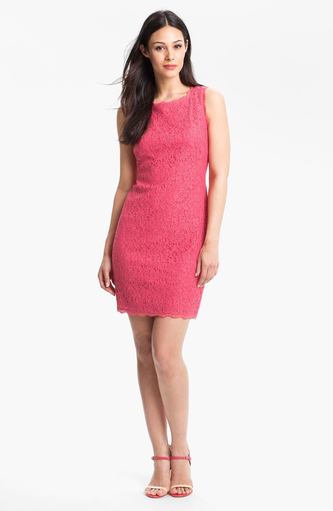 Boatneck Lace Sheath Dress,                             Alternate thumbnail 93, color,