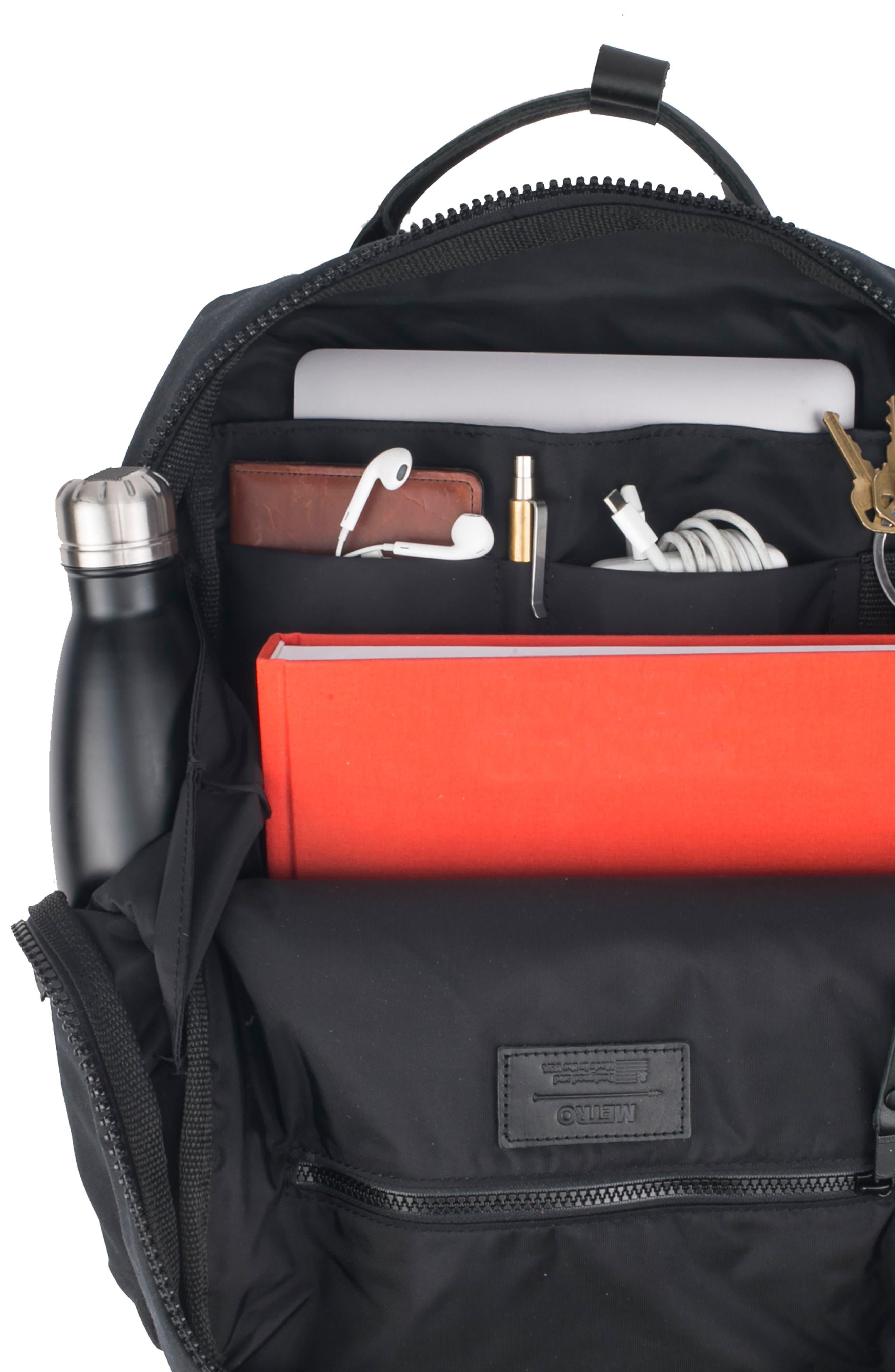 Metro Backpack,                             Alternate thumbnail 3, color,                             BLACK