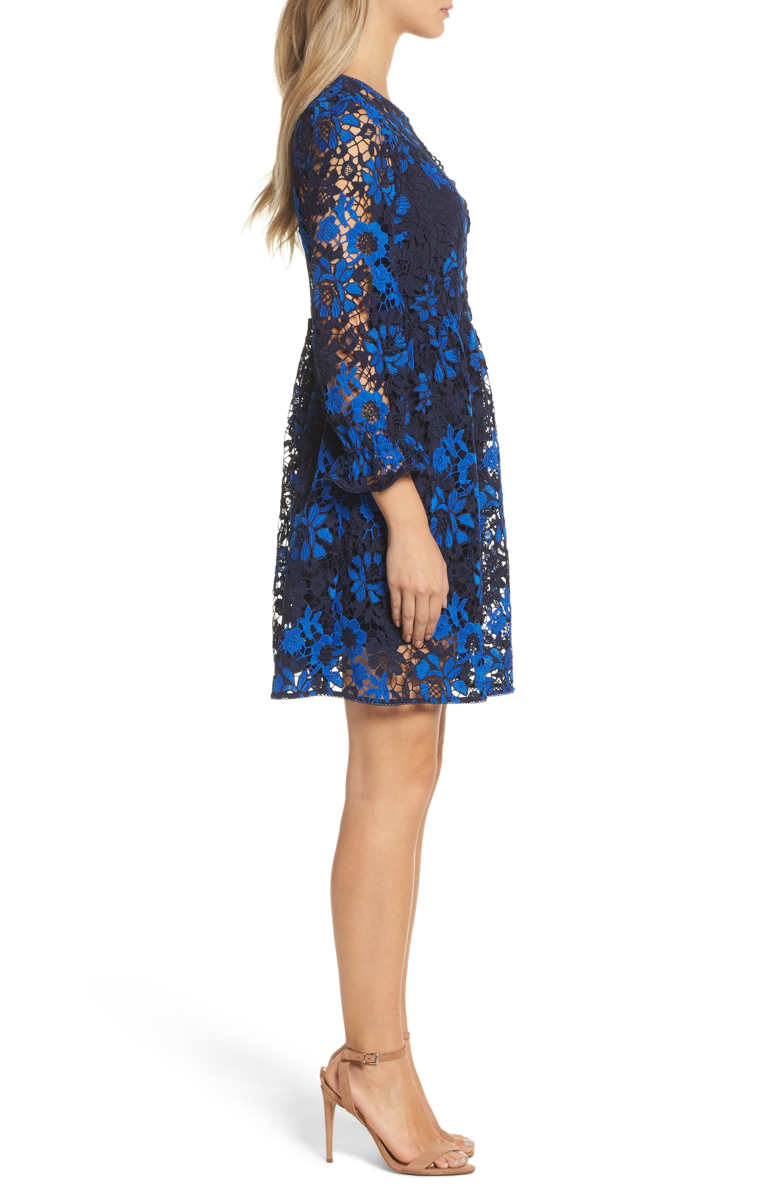 Musa Lace Dress,                             Alternate thumbnail 3, color,