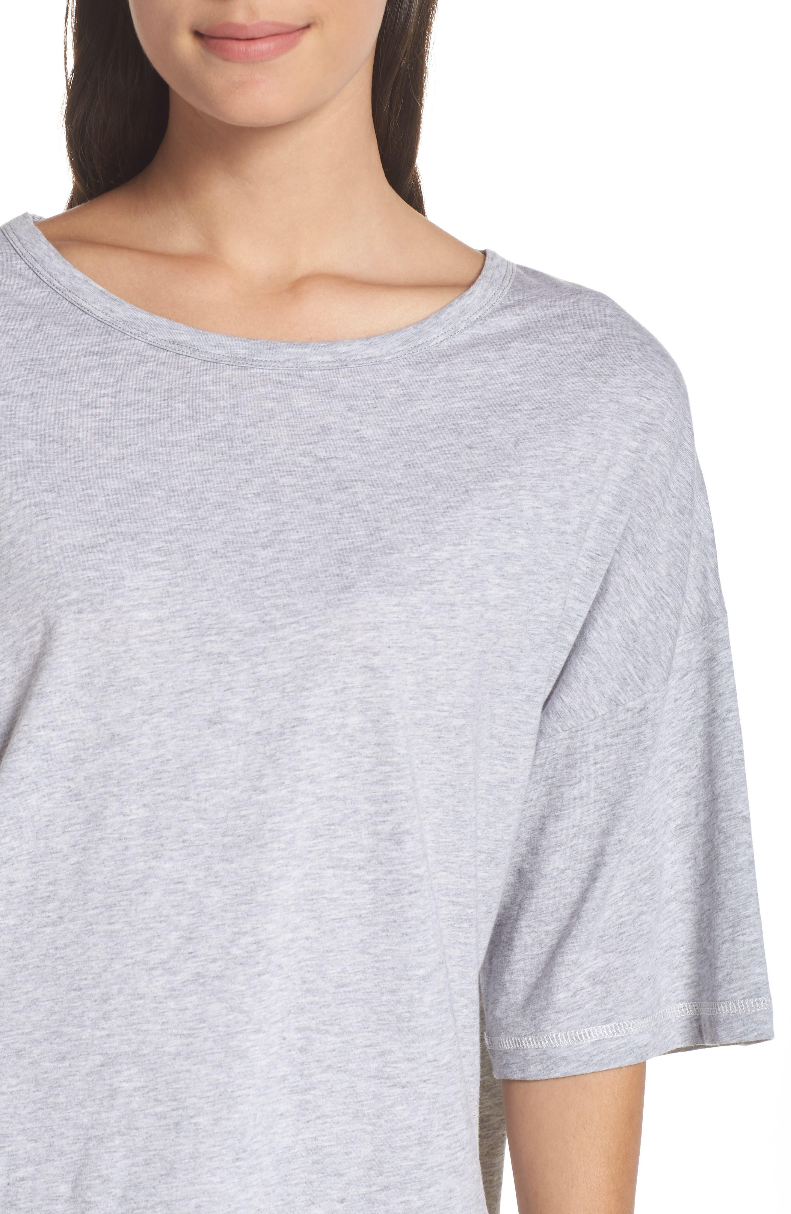 Soph Lounge Shirt,                             Alternate thumbnail 4, color,                             SMOKE MARLE