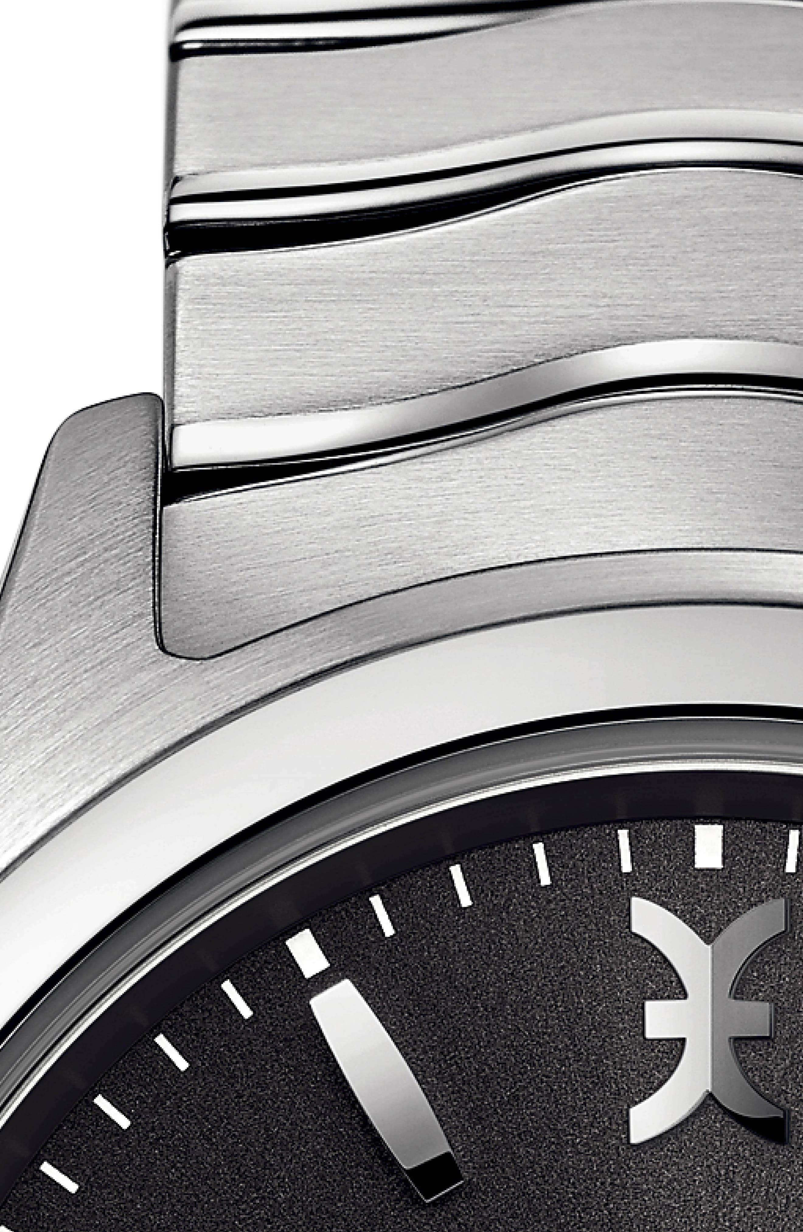 Wave Bracelet Watch, 40mm,                             Alternate thumbnail 2, color,                             SILVER/ ANTHRACITE/ SILVER