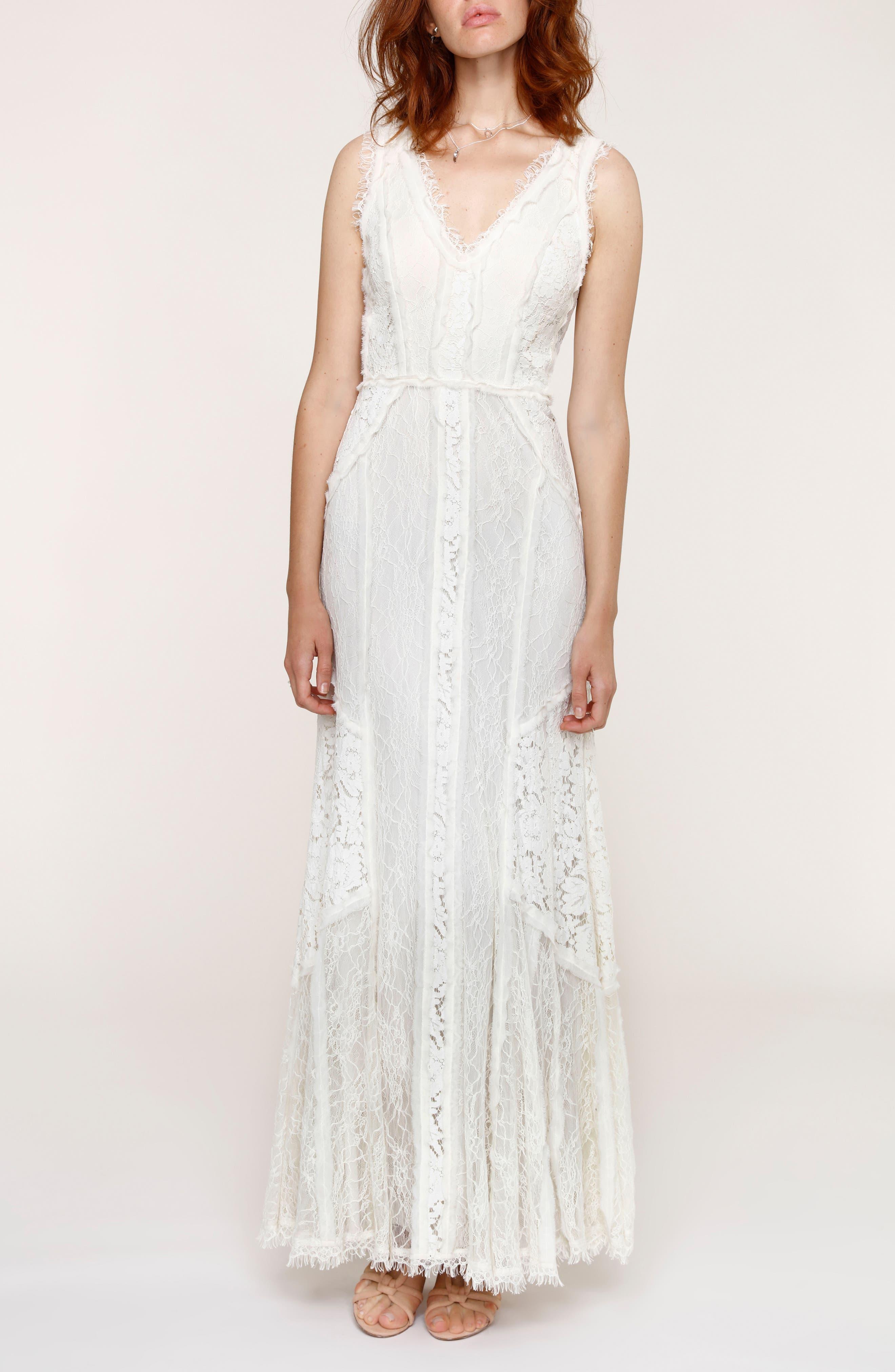 Felix Cutout Back Lace Fit & Flare Dress,                             Main thumbnail 1, color,                             101