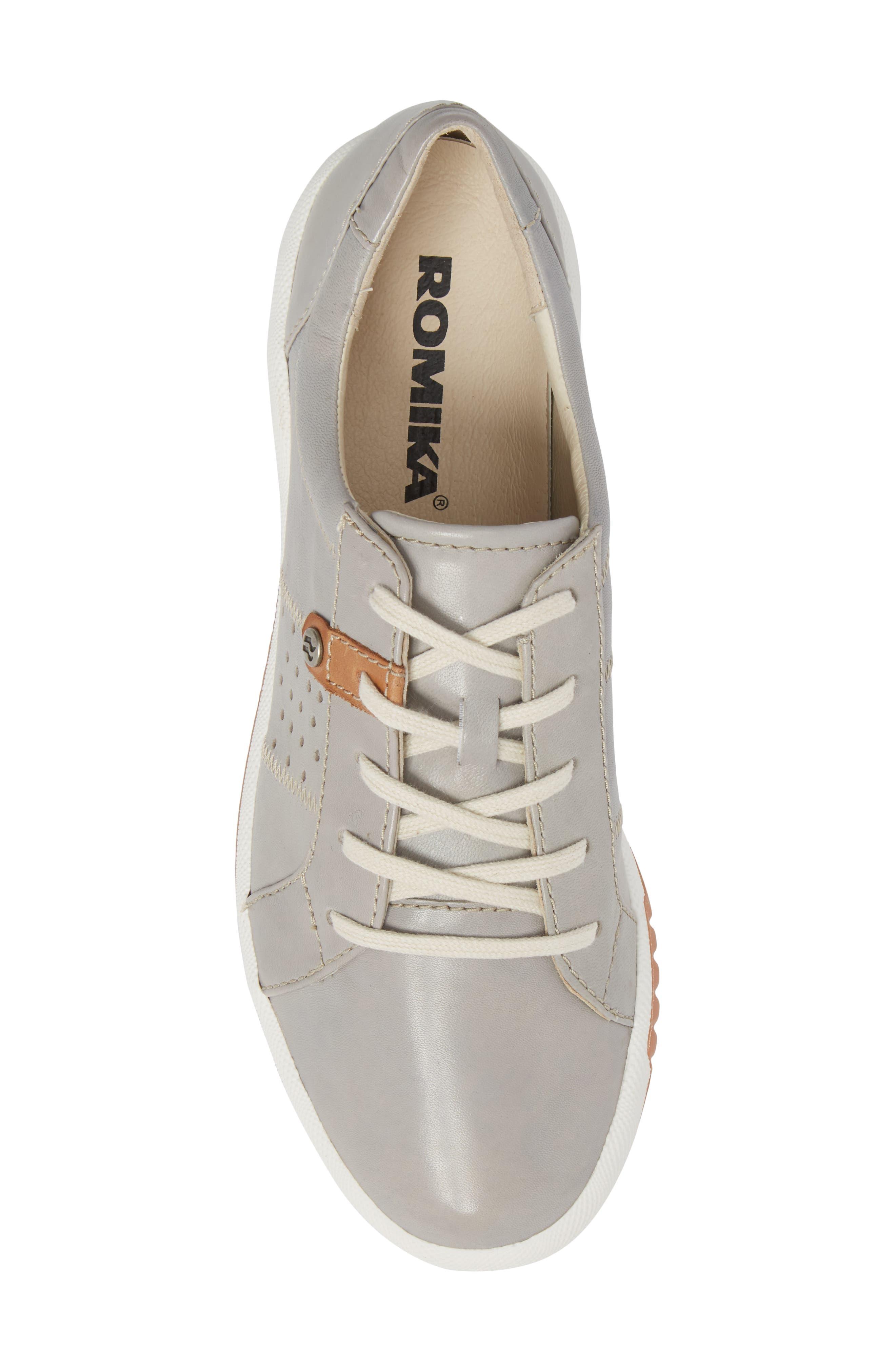 Cordoba 01 Sneaker,                             Alternate thumbnail 5, color,                             GREY LEATHER