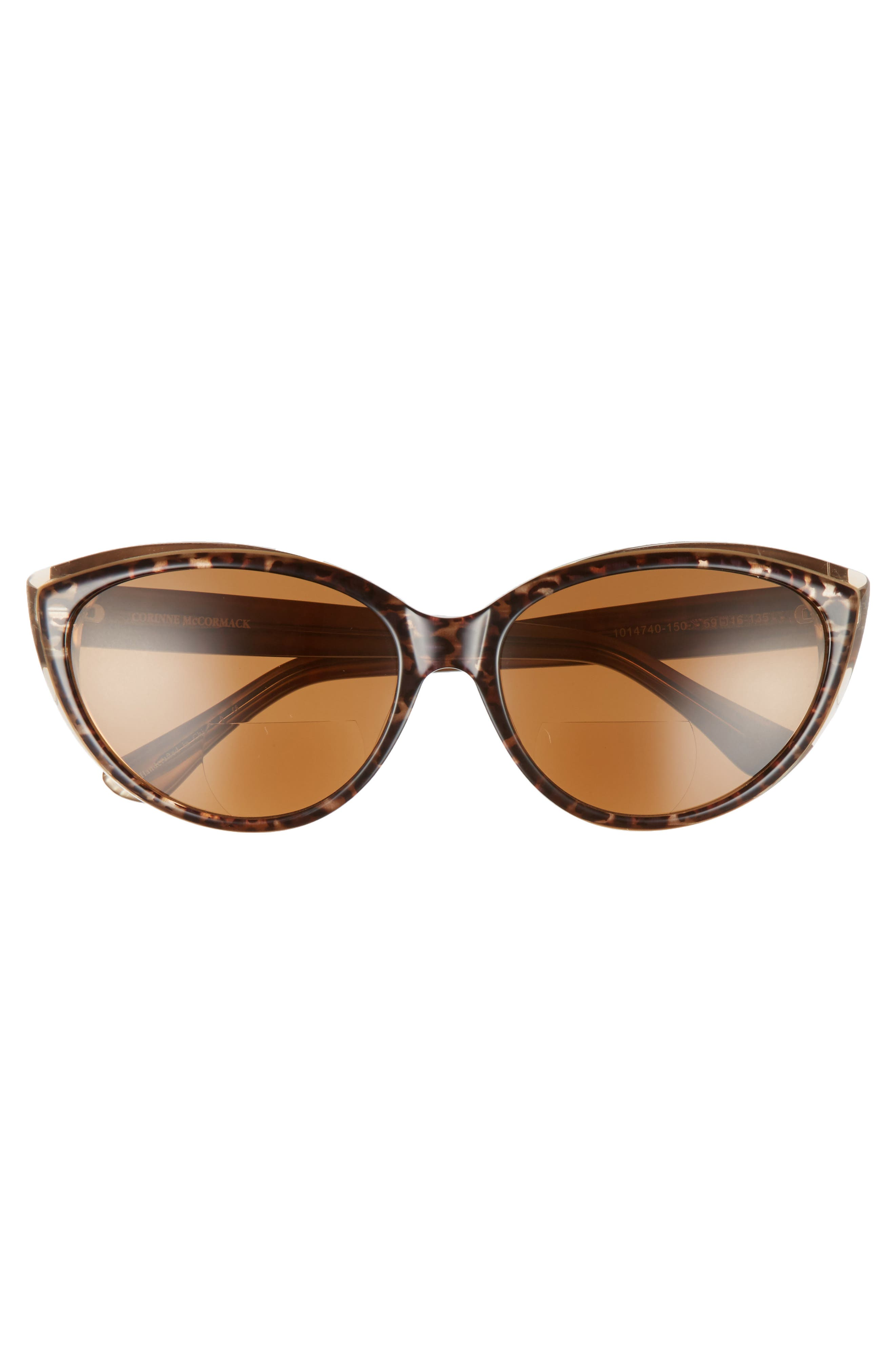 Corrine McCormack Anita 59mm Reading Sunglasses,                             Alternate thumbnail 3, color,                             DARK LEOPARD