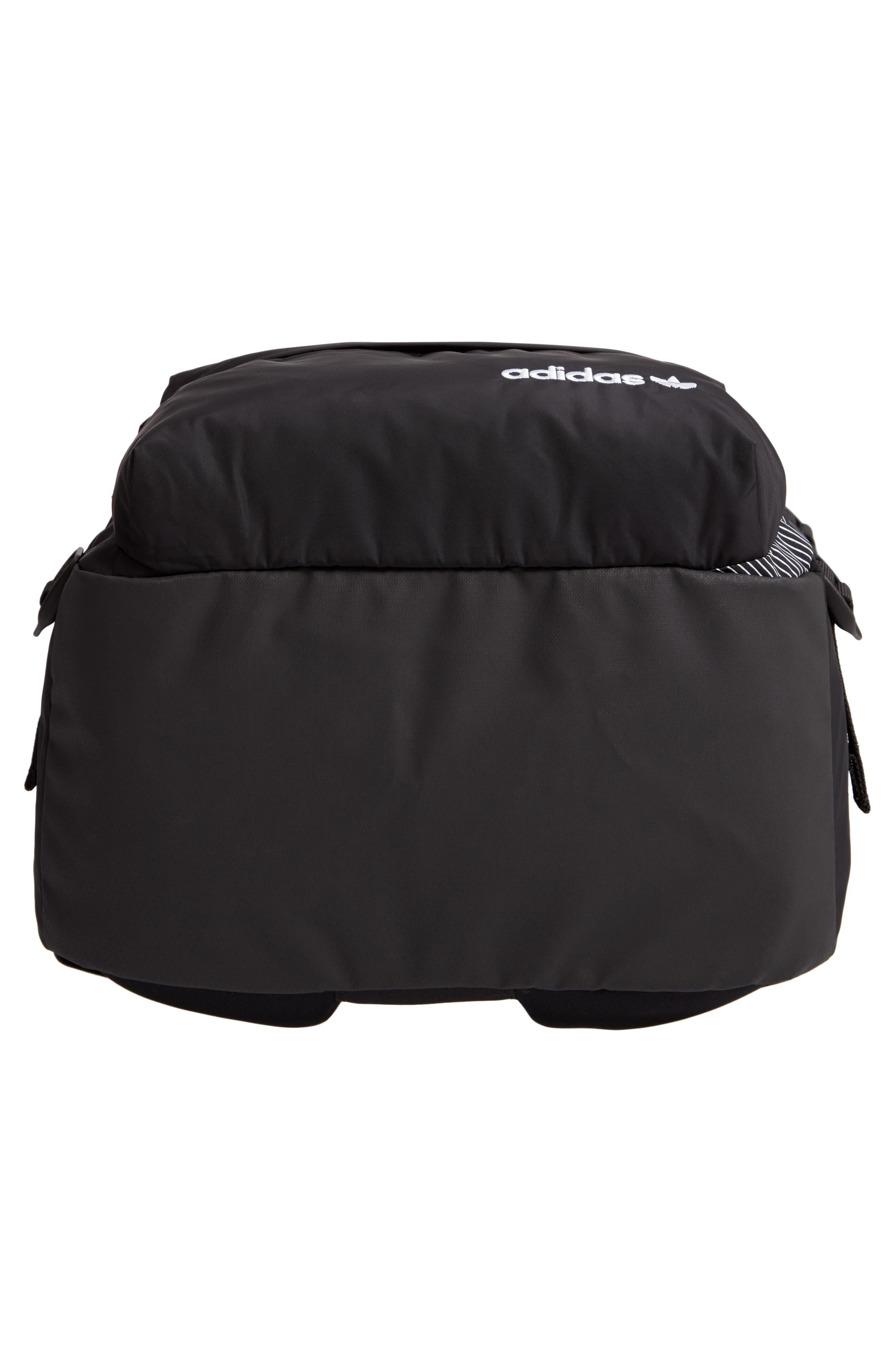 EQT Backpack,                             Alternate thumbnail 6, color,                             BLACK/ WHITE/ SUB GREEN