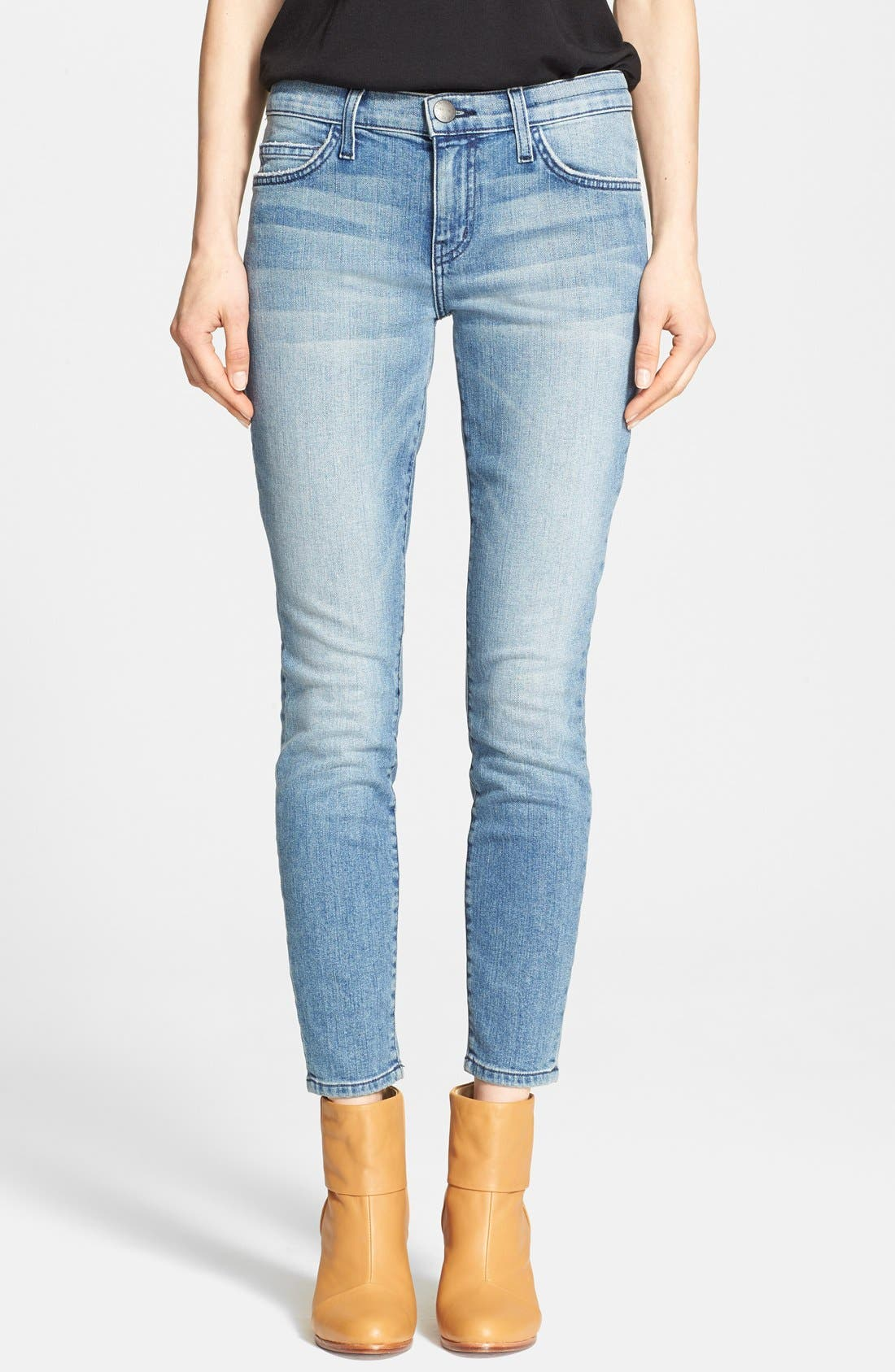 'The Stiletto' Destroyed Skinny Jeans,                             Main thumbnail 7, color,